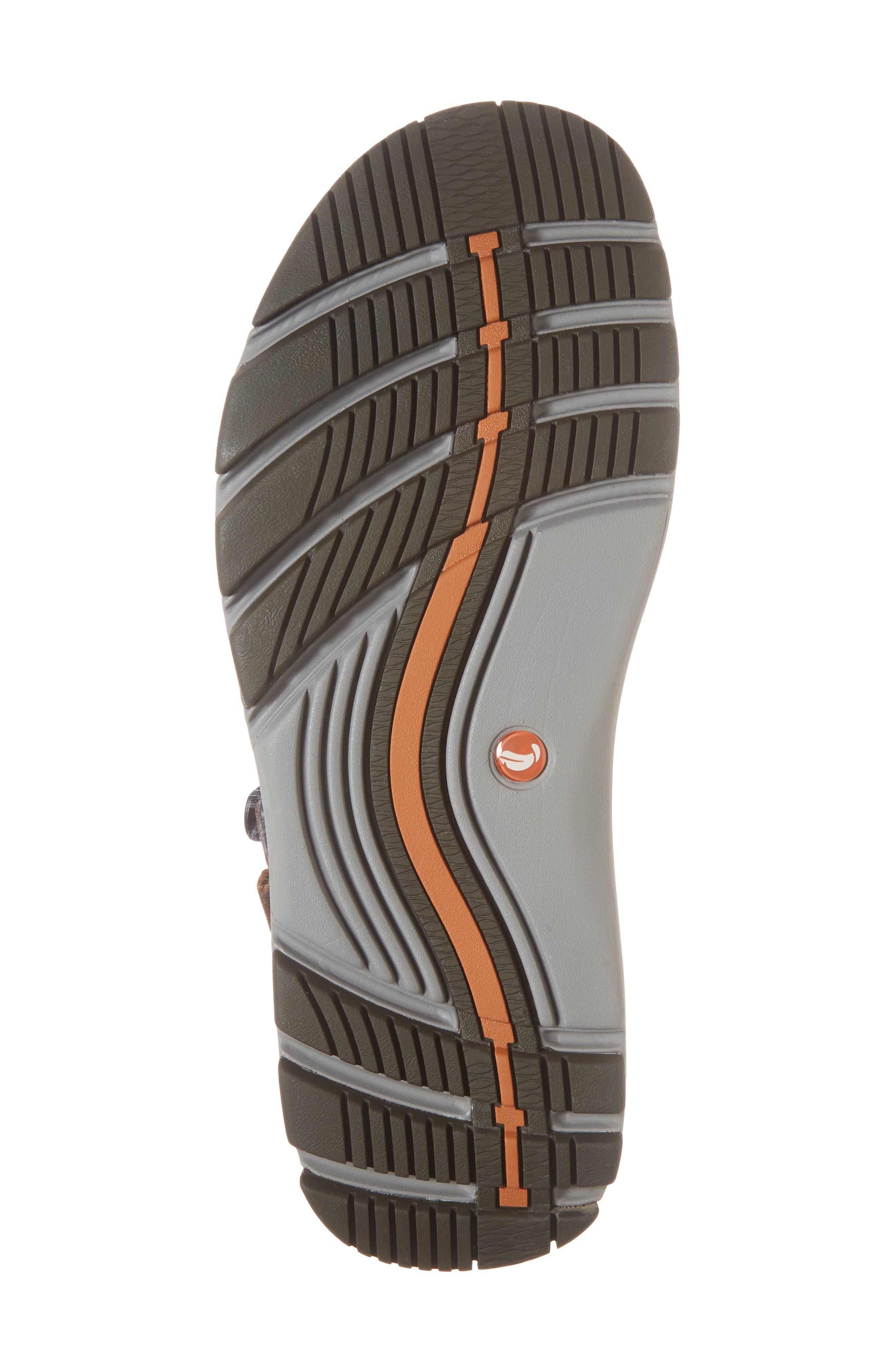 Un Trek Part Sport Sandal,                             Alternate thumbnail 6, color,                             Dark Tan Leather
