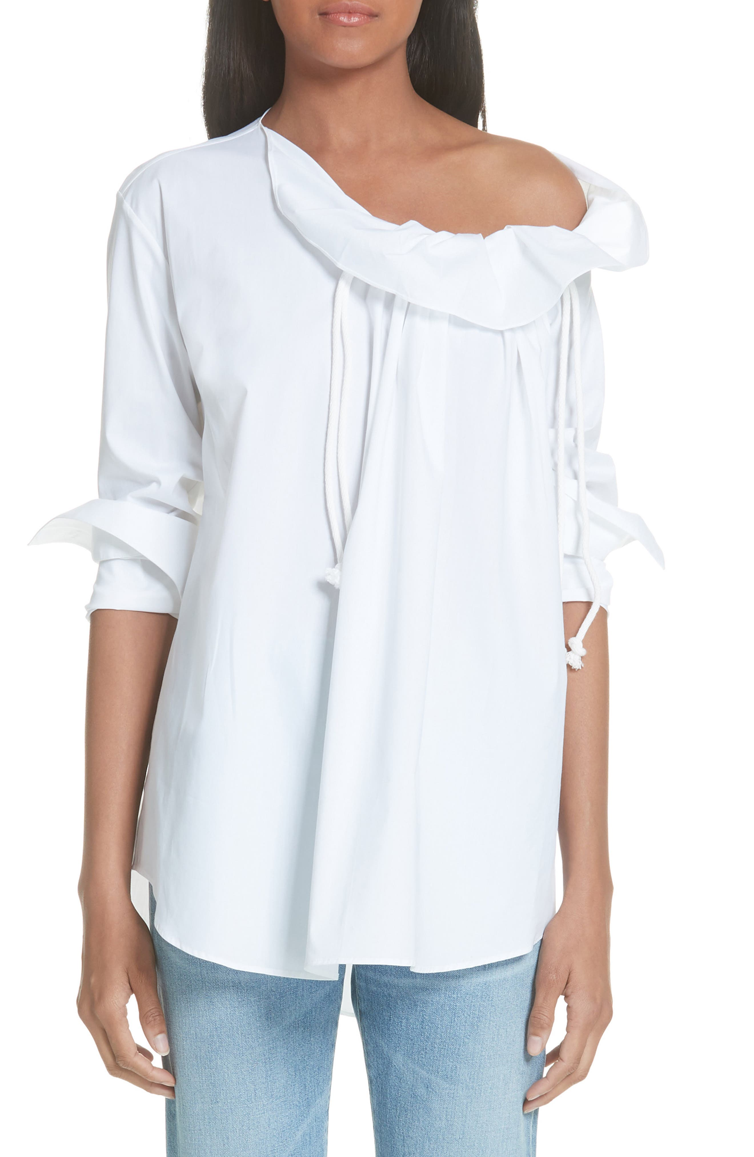 PALMER//HARDING Gallery One-Shoulder Shirt