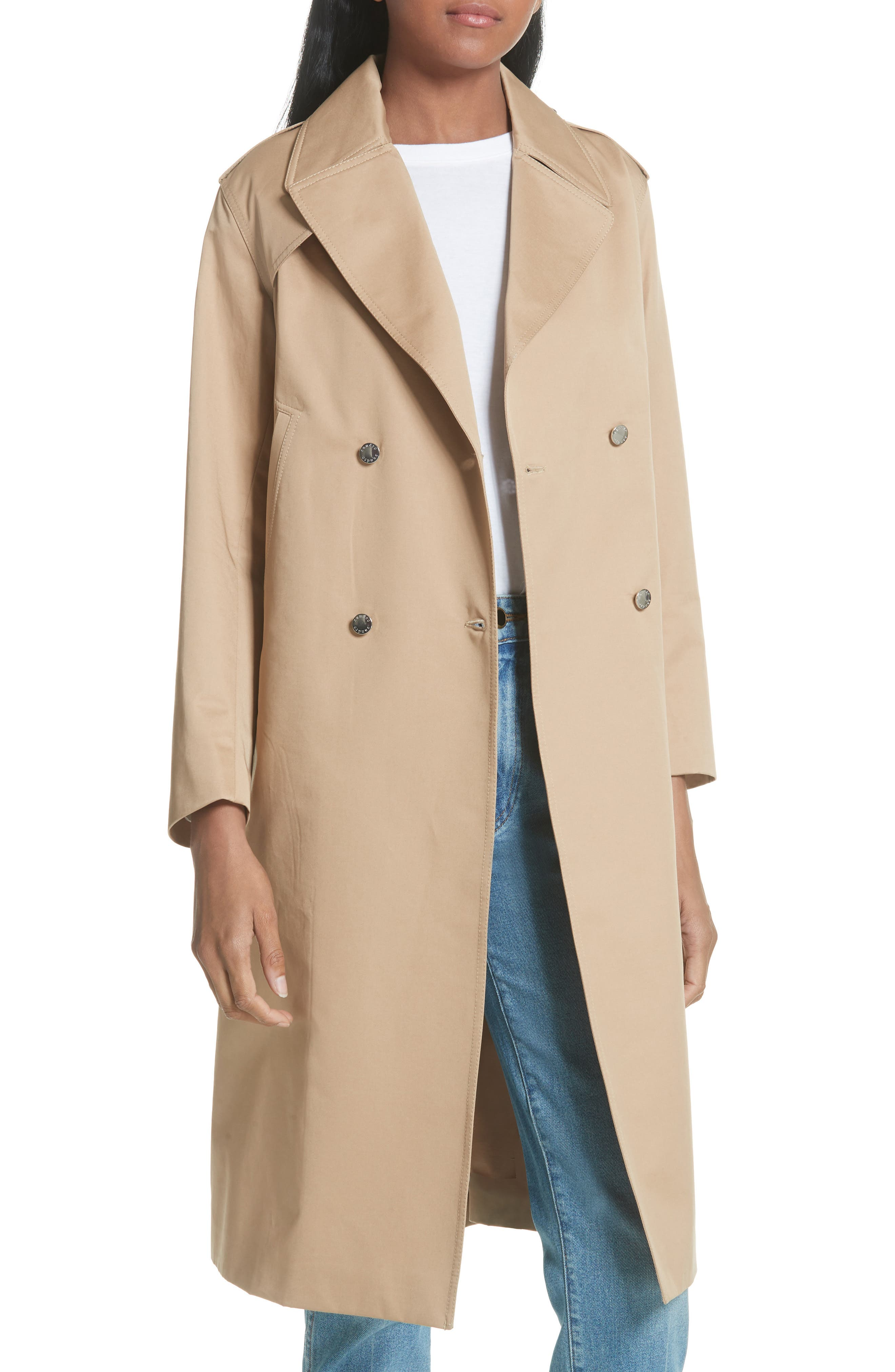 sandro Emastic Laced Back Trench Coat