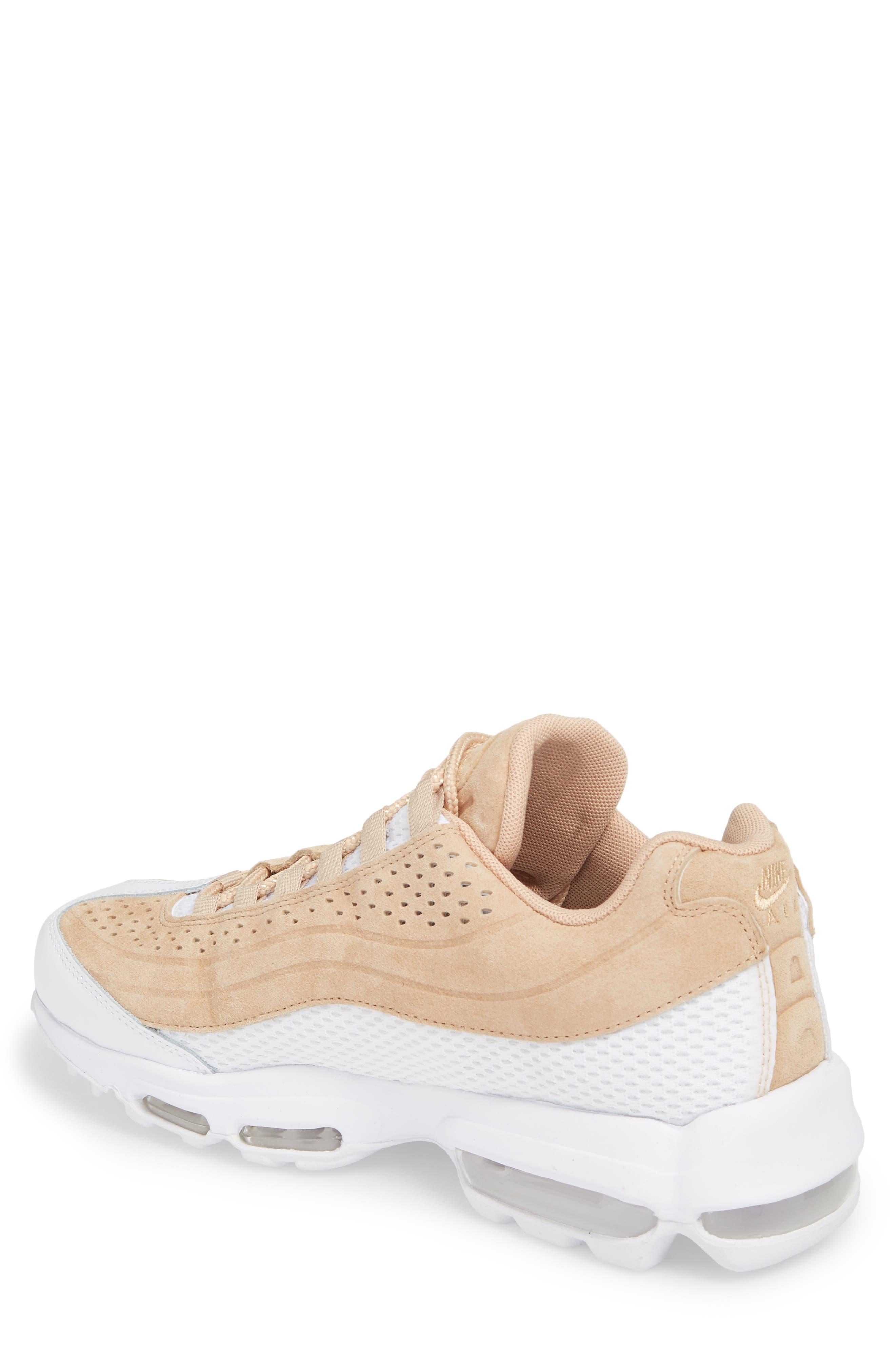 Air Max 95 Ultra Premium Sneaker,                             Alternate thumbnail 2, color,                             Vachetta Tan/ White