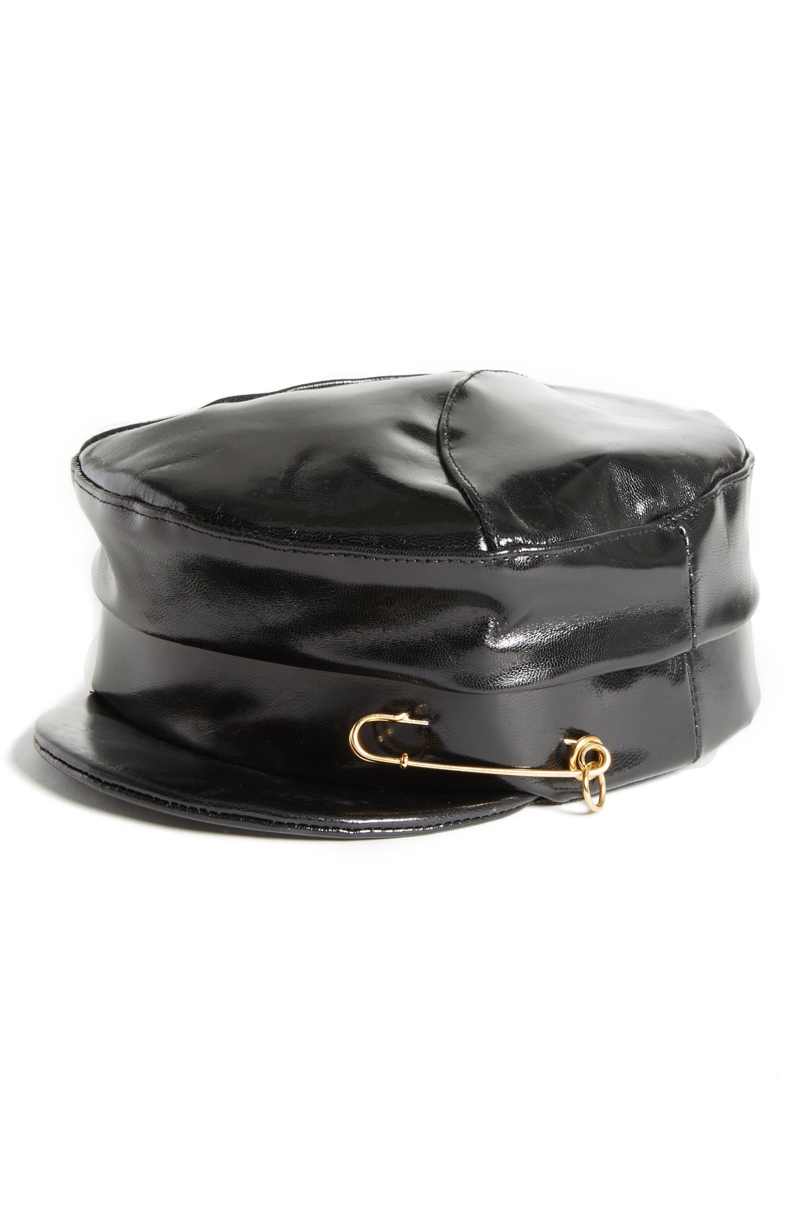 GIGI BURRIS MILLINERY GEORGIE MILITARY CAP - BLACK