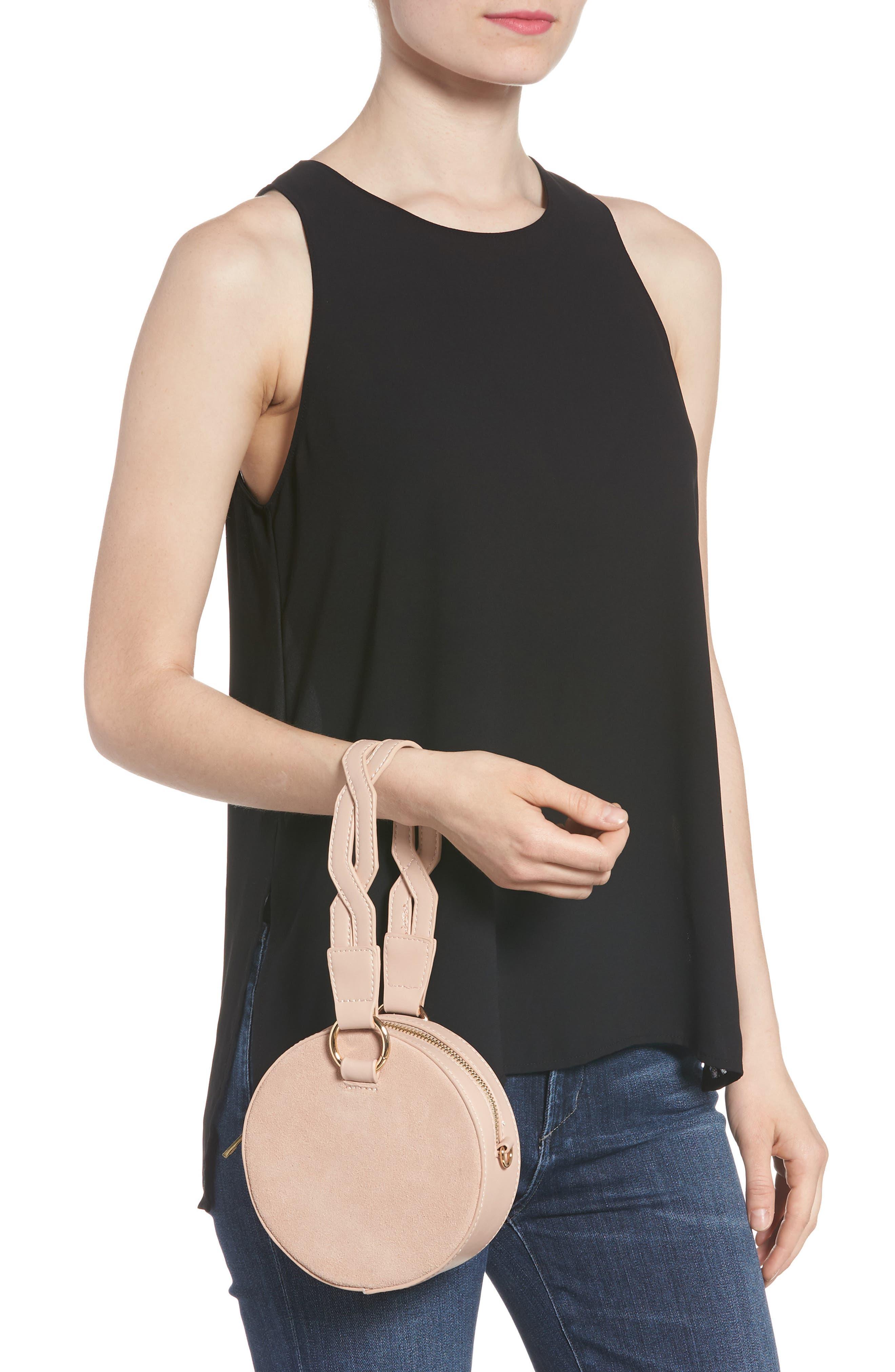 Circle Bag with Wristlet,                             Alternate thumbnail 2, color,                             Tan