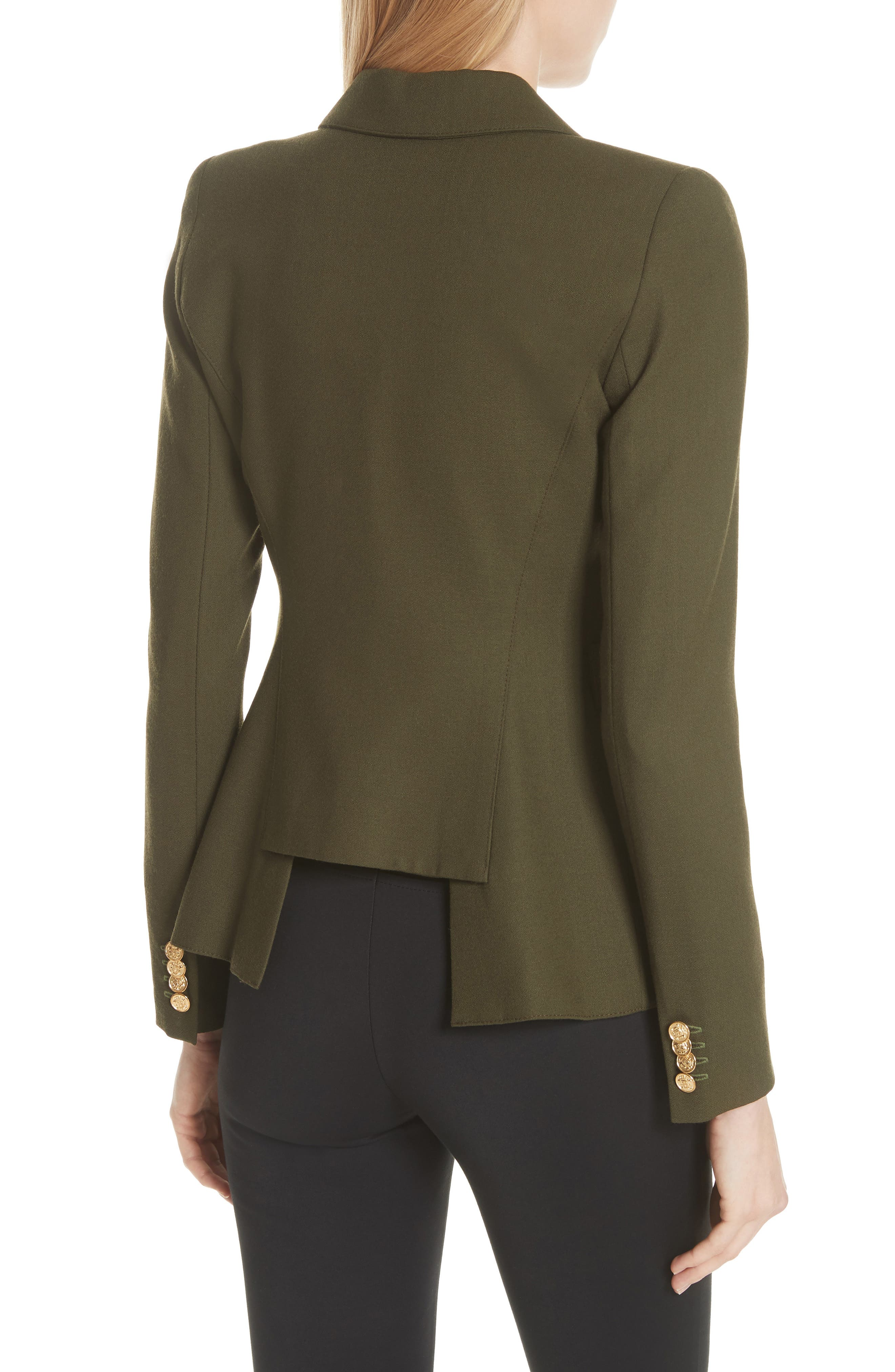 Classic Duchess Blazer,                             Alternate thumbnail 2, color,                             Army