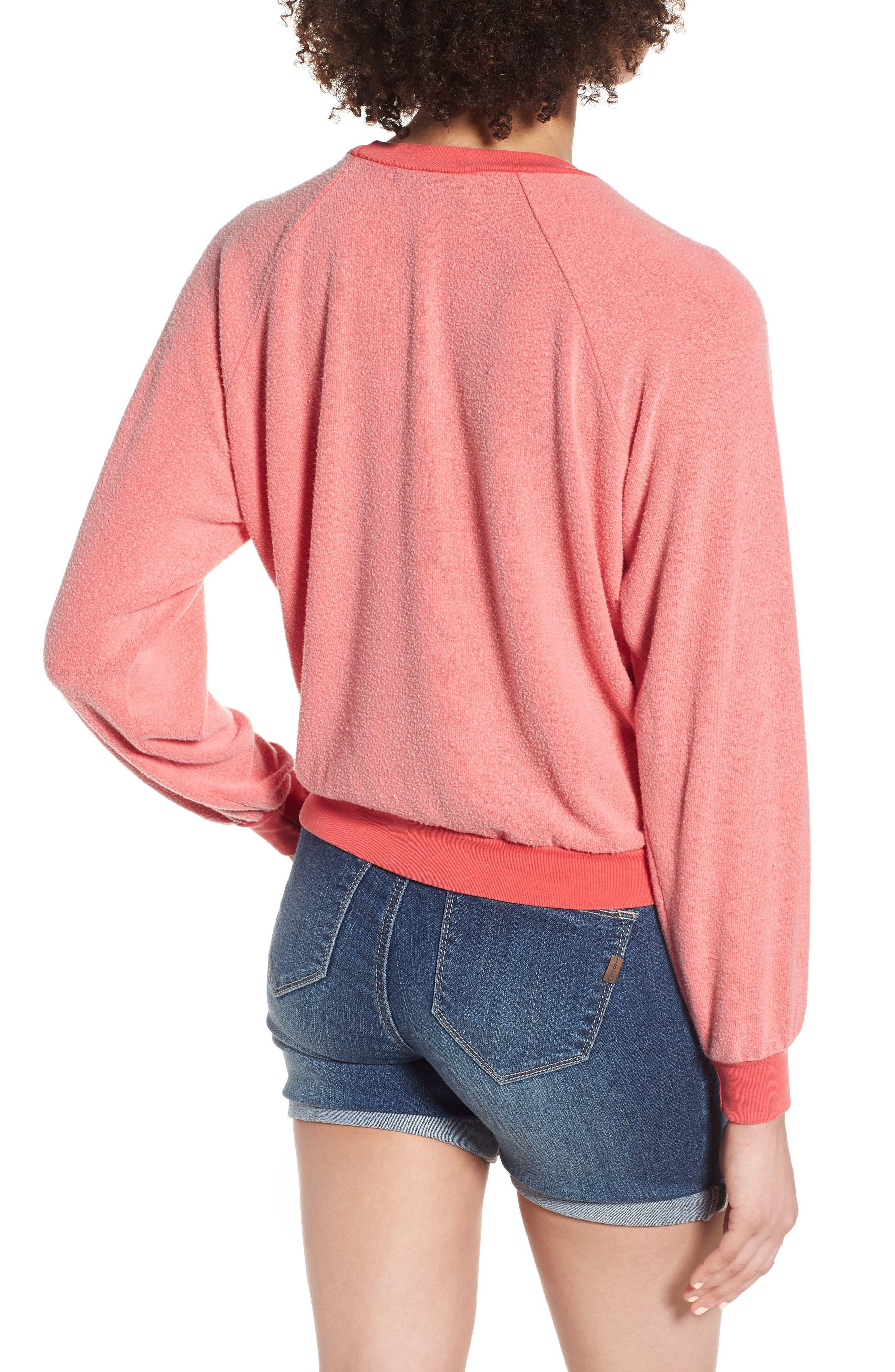Caliente Junior Sweatshirt,                             Alternate thumbnail 2, color,                             Pigment Hot Lipstick