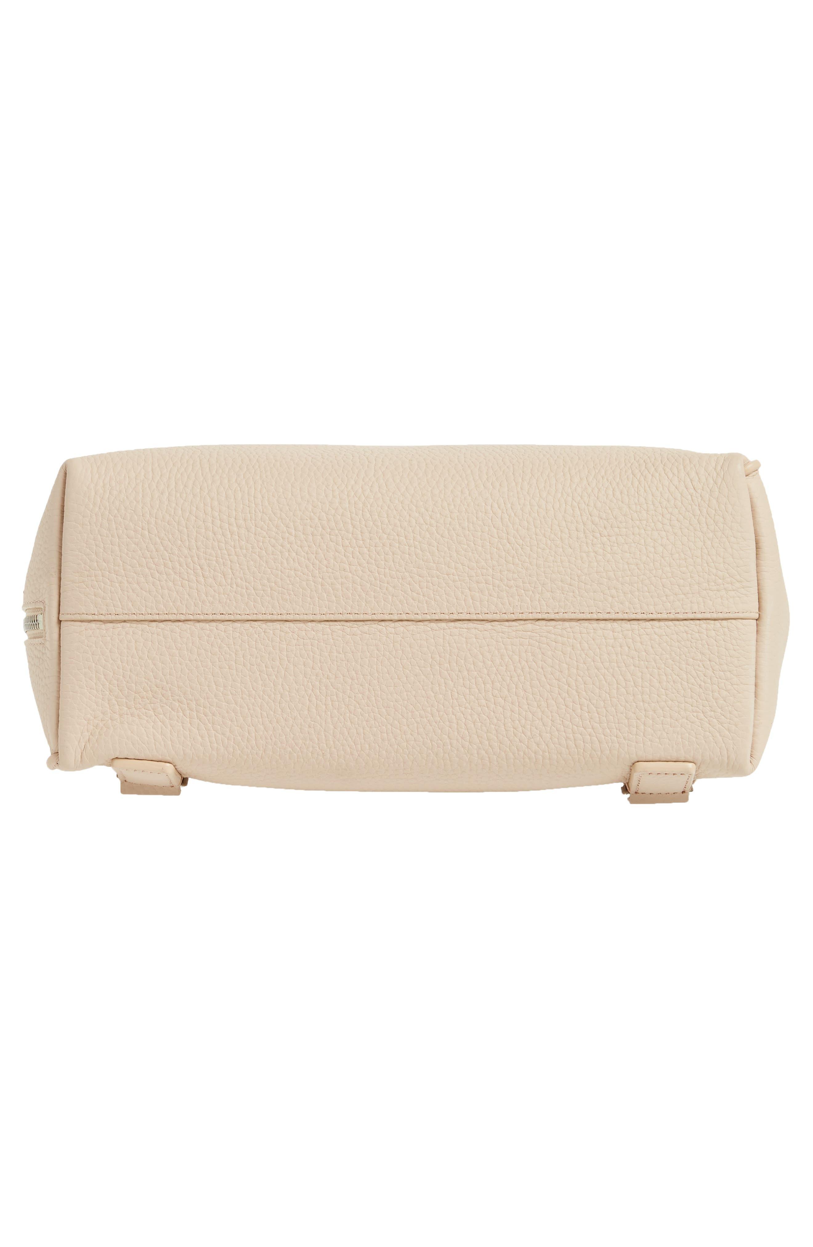 Small Kita Convertible Leather Backpack,                             Alternate thumbnail 6, color,                             Natural