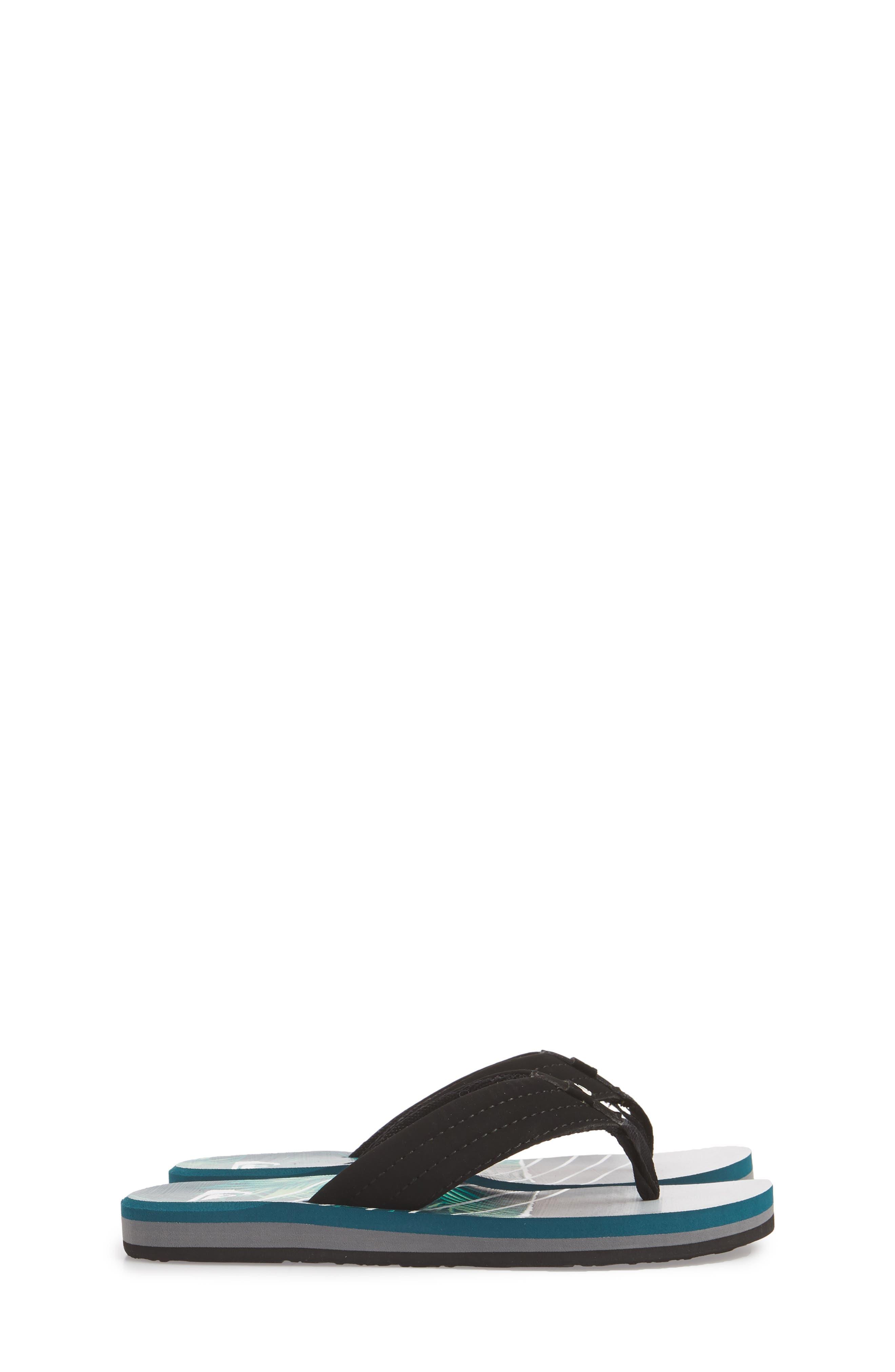 Carver Flip Flop,                             Alternate thumbnail 4, color,                             Black/ Green