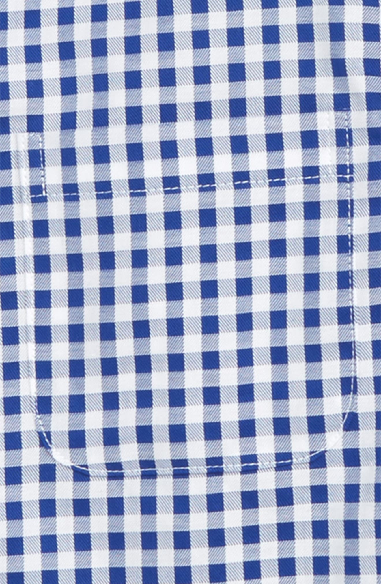 Check Dress Shirt,                             Alternate thumbnail 2, color,                             Blue Mazarine- White Check