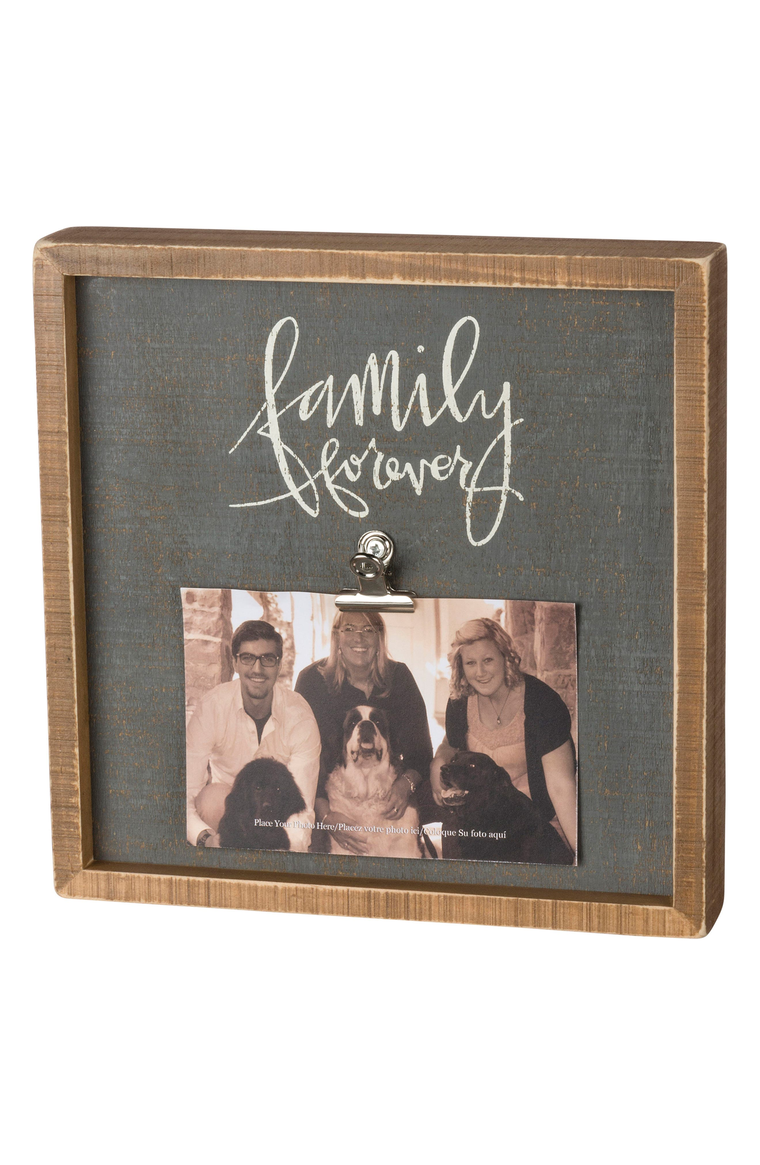 Primitives by Kathy Family Forever Inset Box Picture Frame