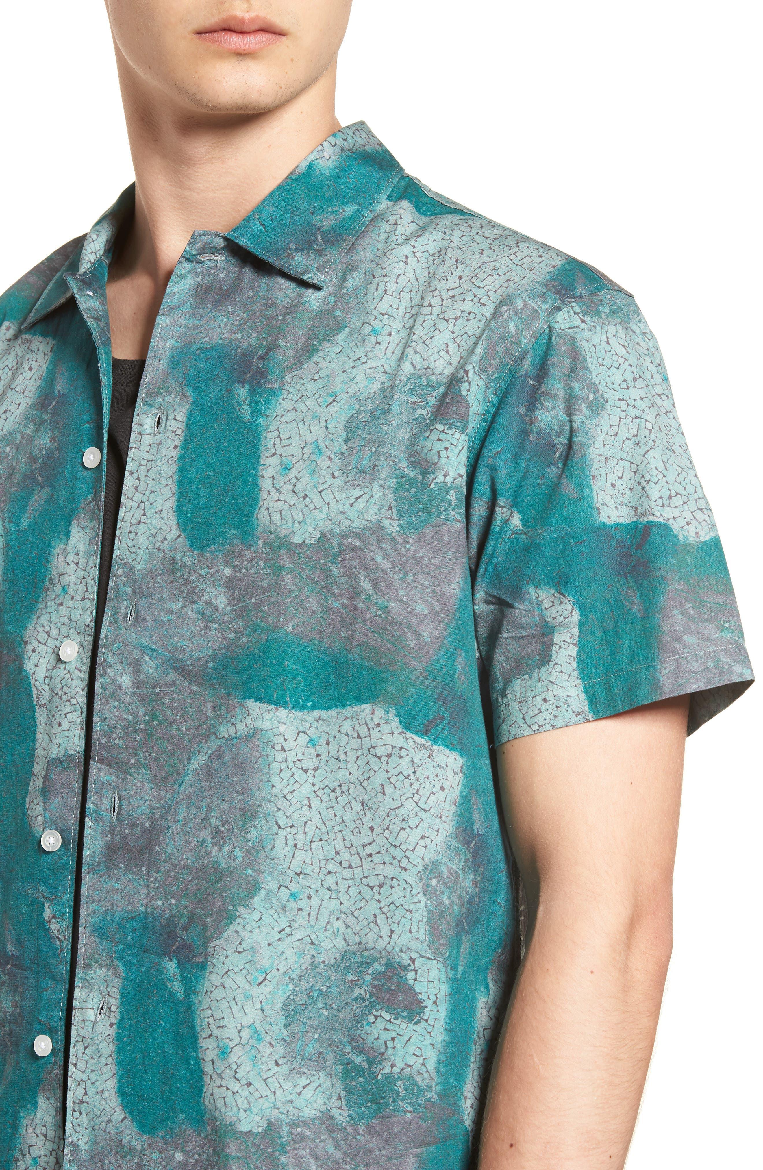 Villa Desert Woven Shirt,                             Alternate thumbnail 2, color,                             Pacific Green Desert