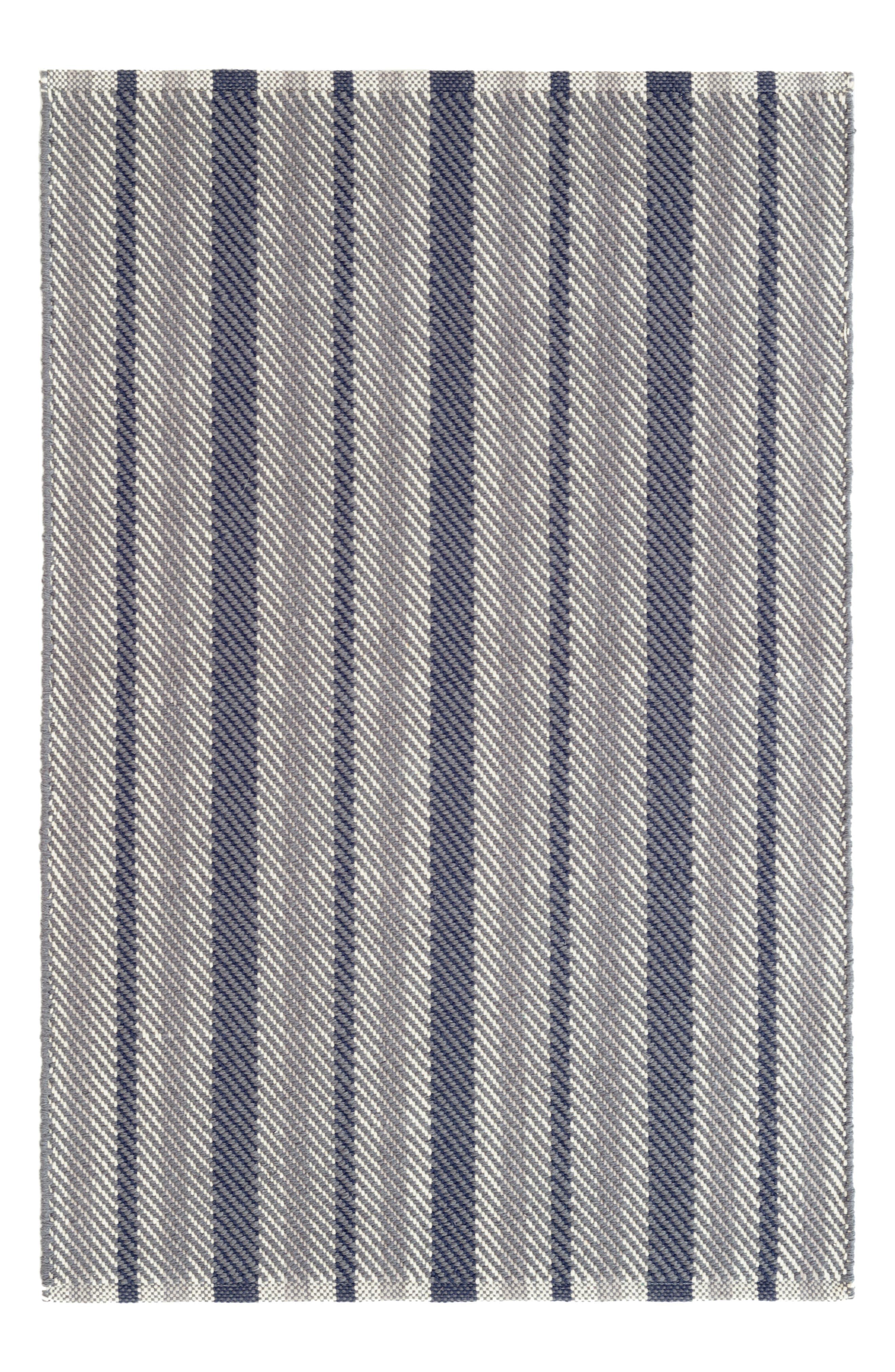 Dash & Albert Herringbone Stripe Woven Rug