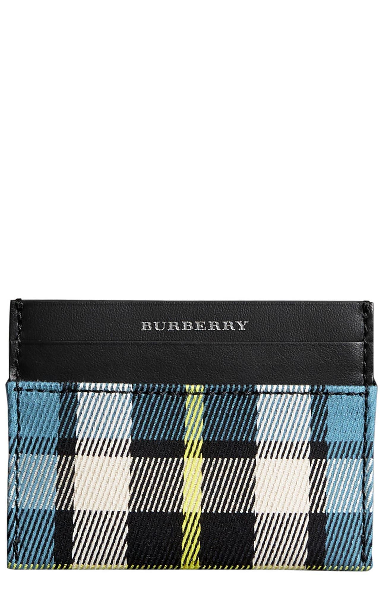 Burberry Sandon Tartan Mix Card Case