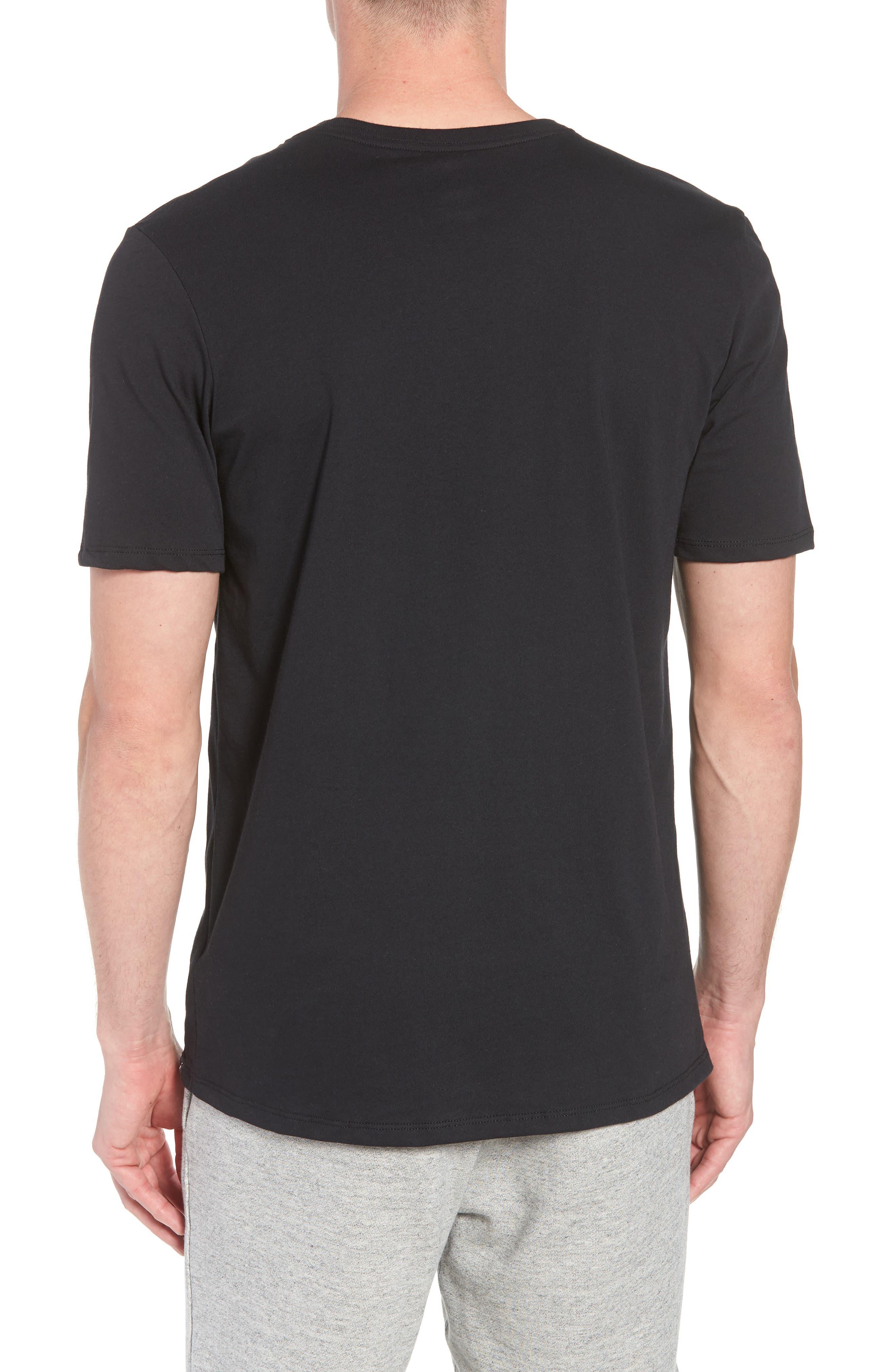 Iconic Jumpman Graphic T-Shirt,                             Alternate thumbnail 2, color,                             Black/ White