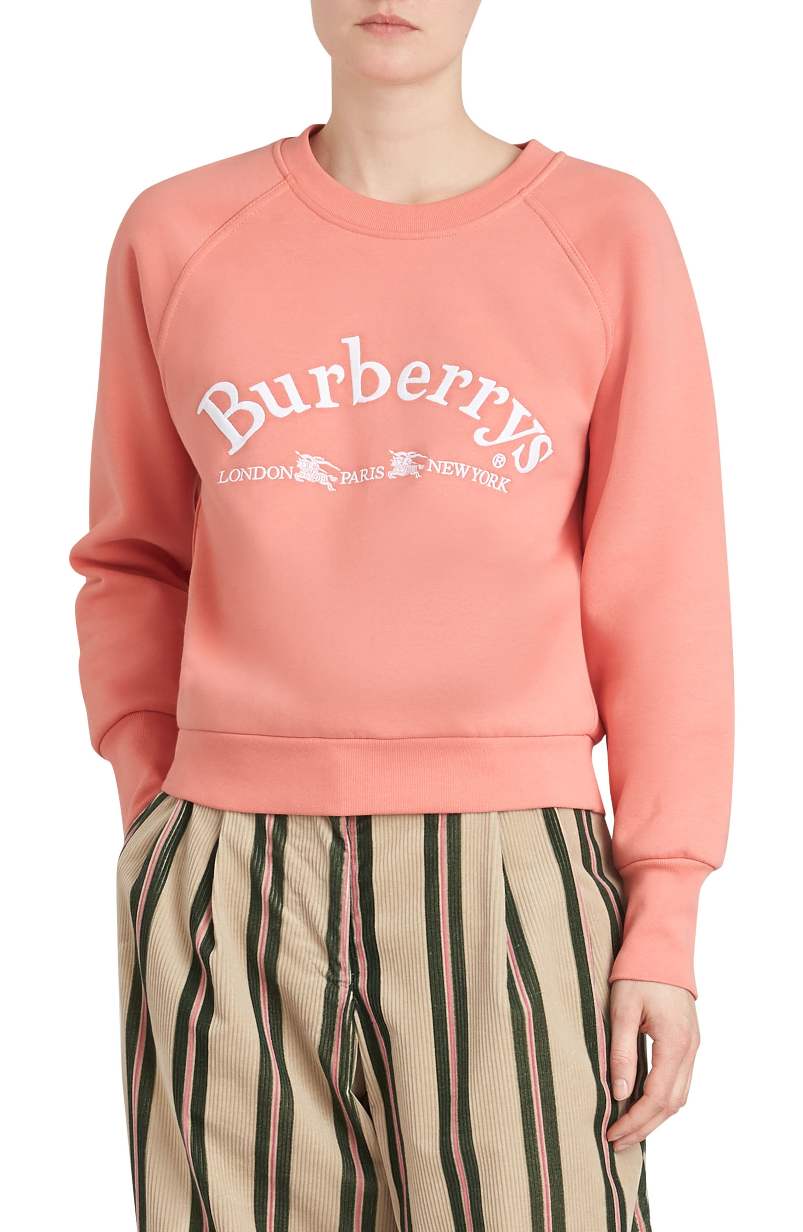 Burberry Battarni Embroidered Logo Sweatshirt