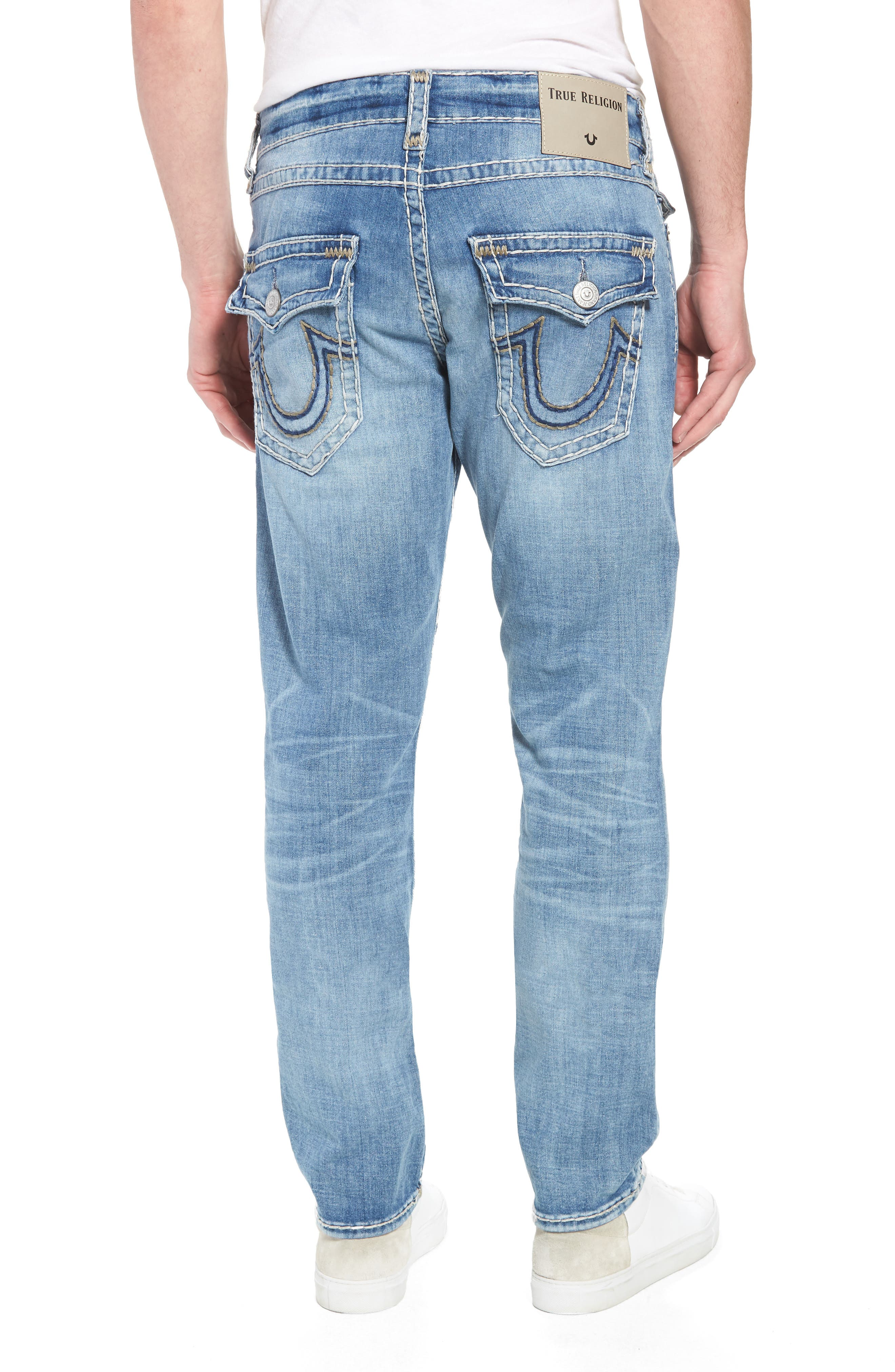 Geno Straight Leg Jeans,                             Alternate thumbnail 2, color,                             Satellite