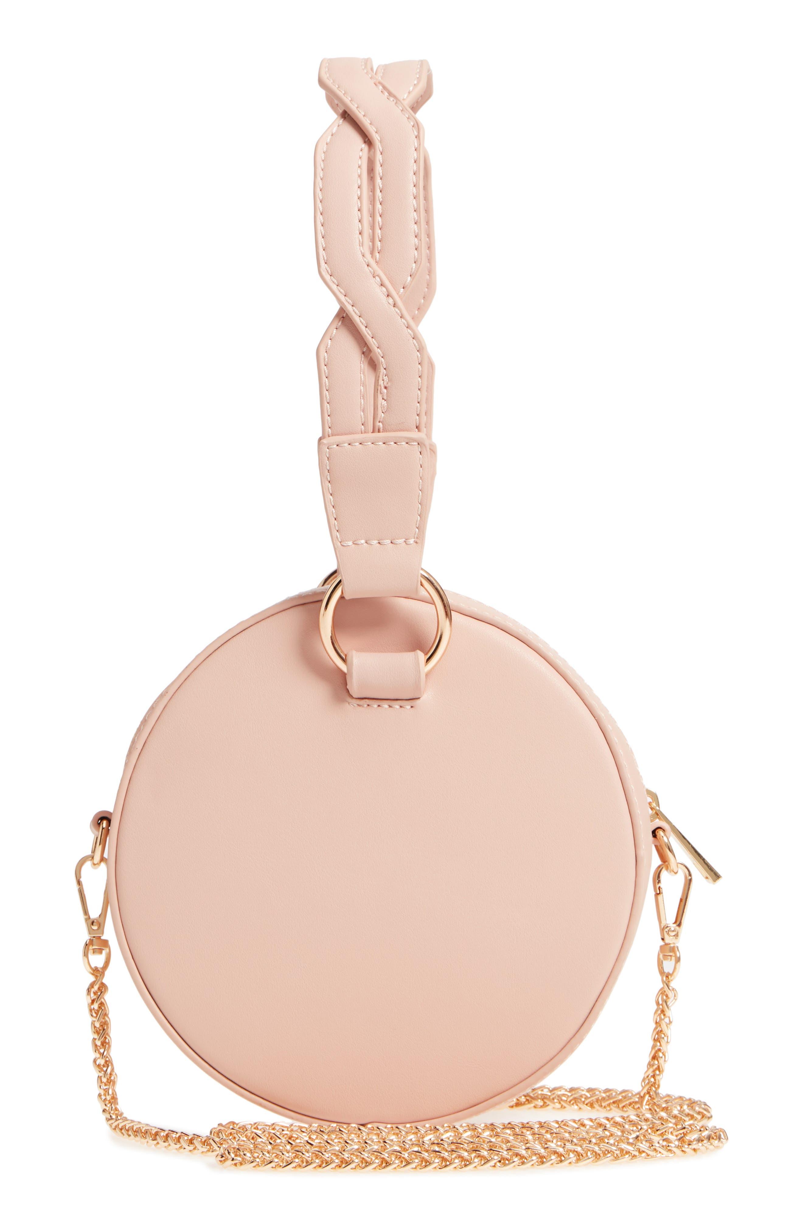 Circle Bag with Wristlet,                             Alternate thumbnail 3, color,                             Tan