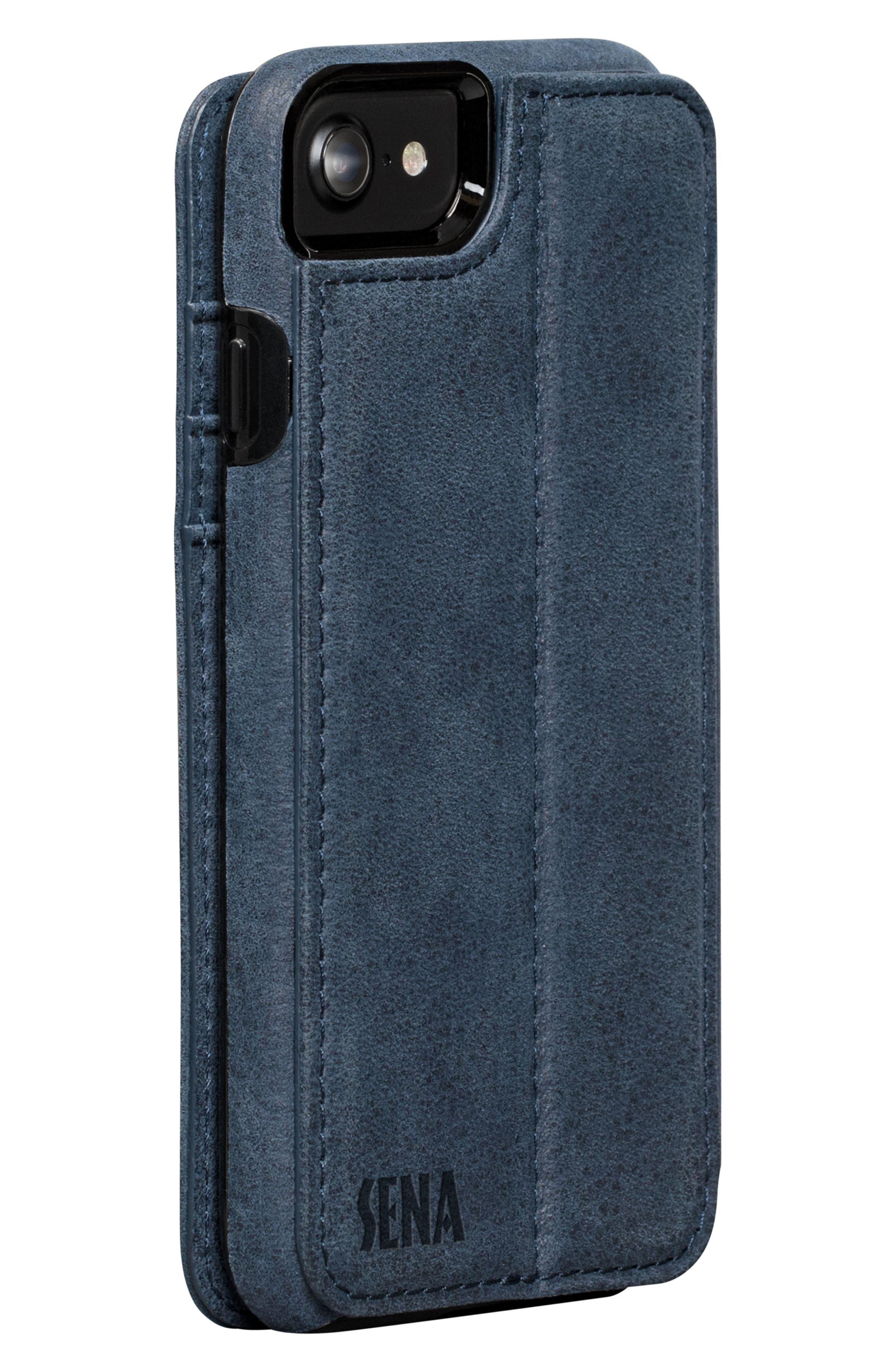 Bence iPhone 7/8 Walletbook,                             Alternate thumbnail 2, color,                             Denim