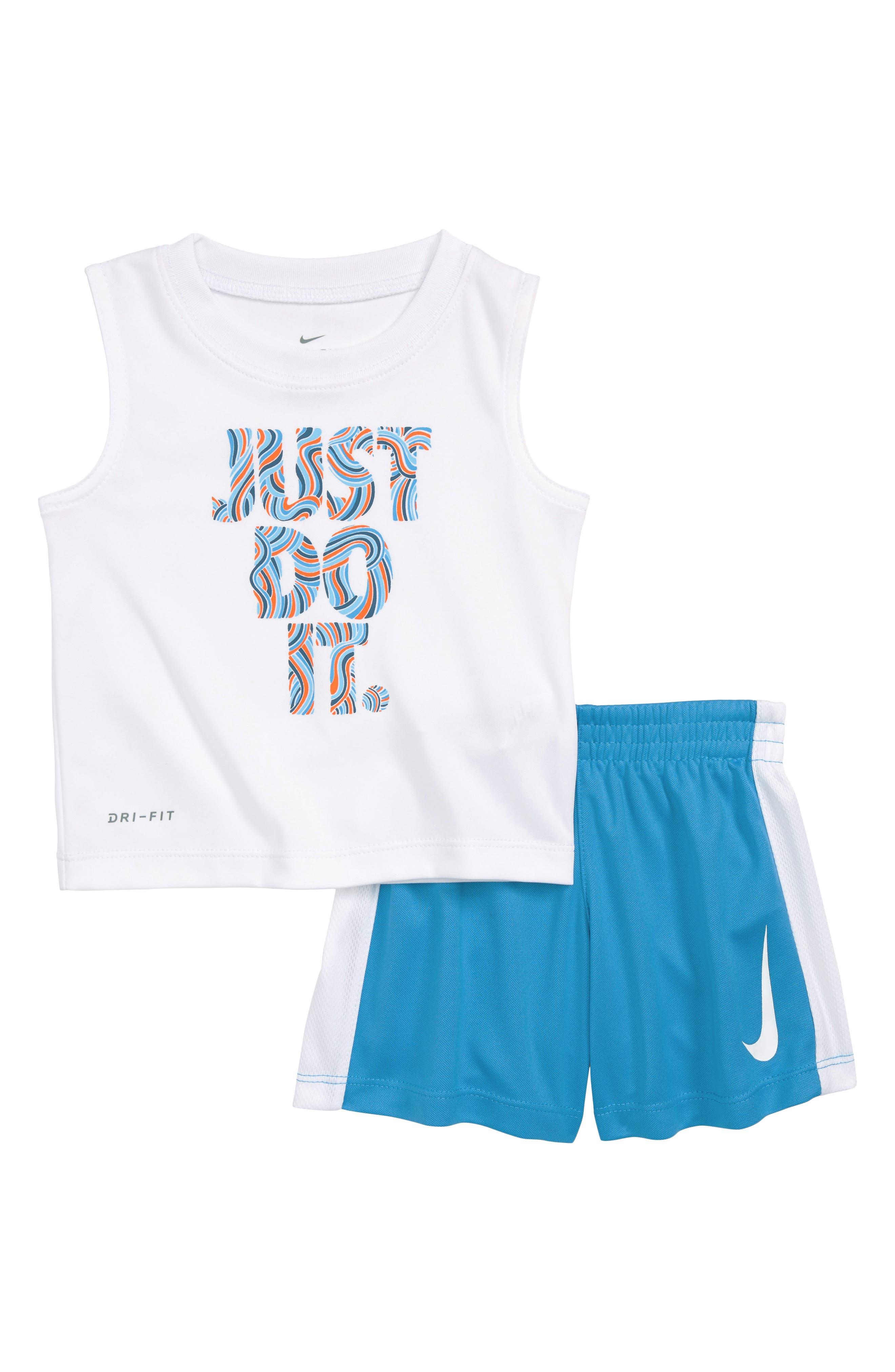 Nike Doodle JDI Graphic Tank & Knit Shorts Set (Baby Boys)