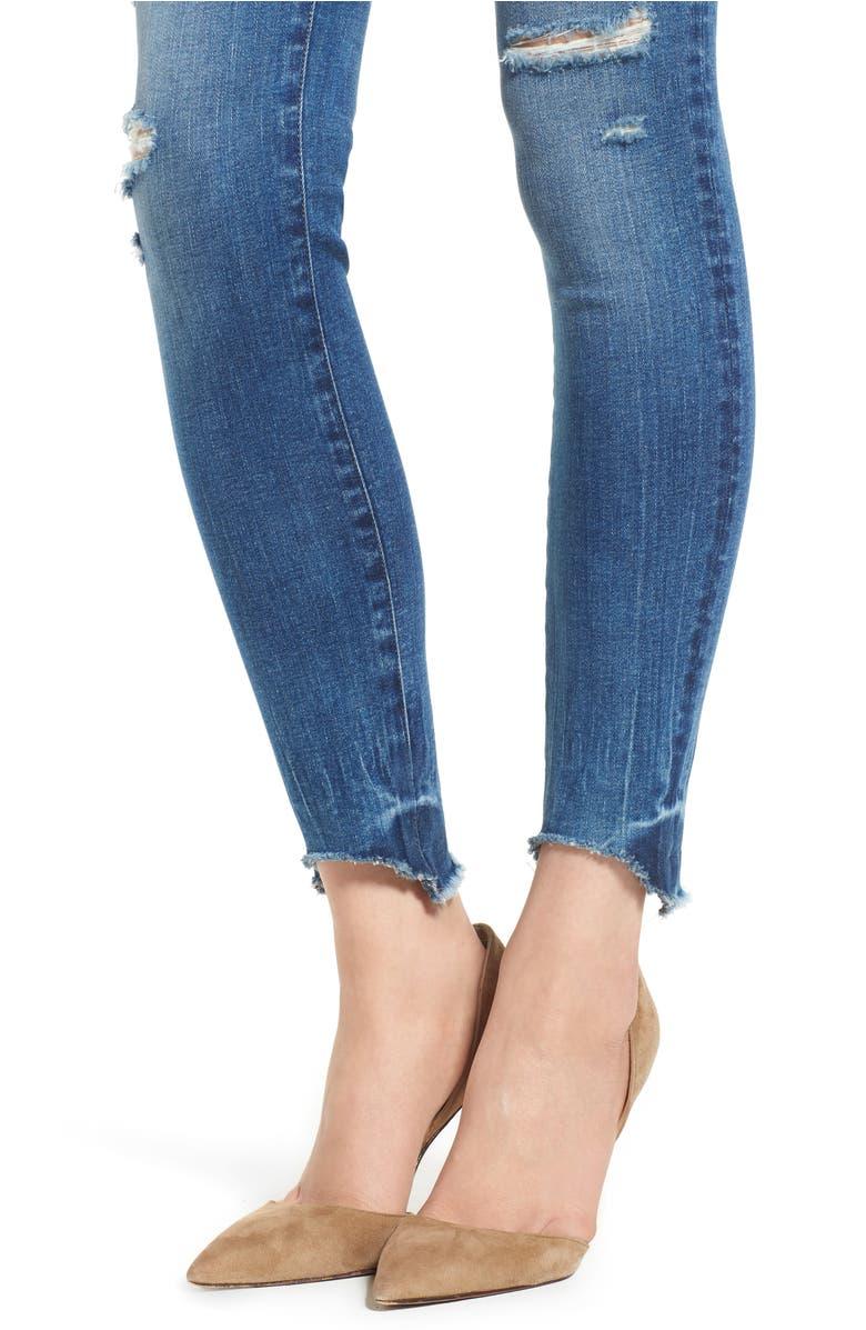 Dl 1961 Emma Raw Hem Low Rise Skinny Jeans In Baxter Modesens