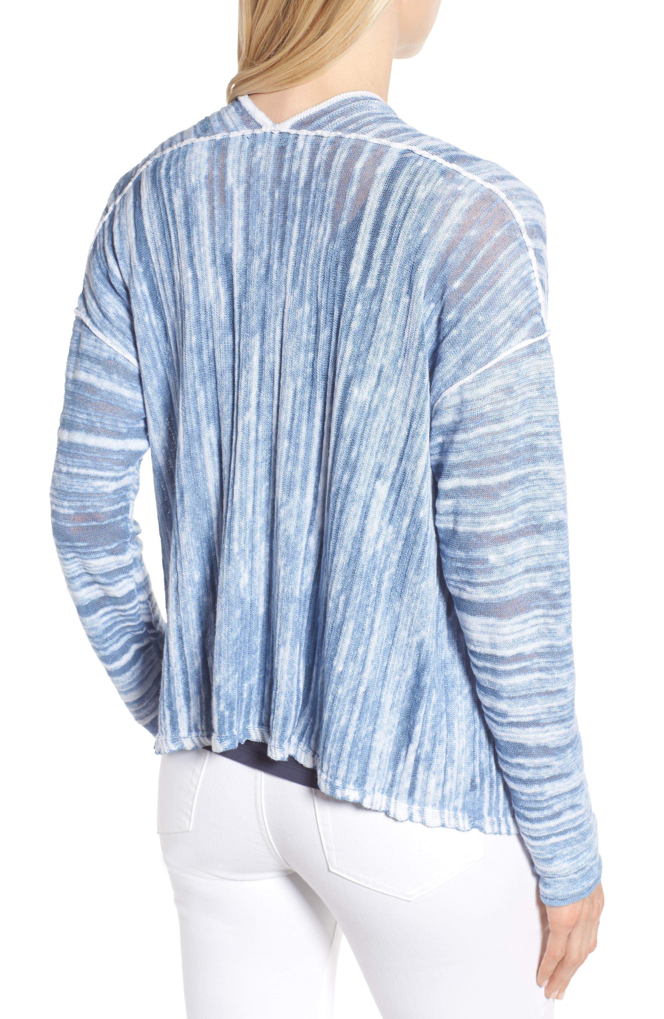 Open Breeze Cardigan,                             Alternate thumbnail 2, color,                             Blue Haze