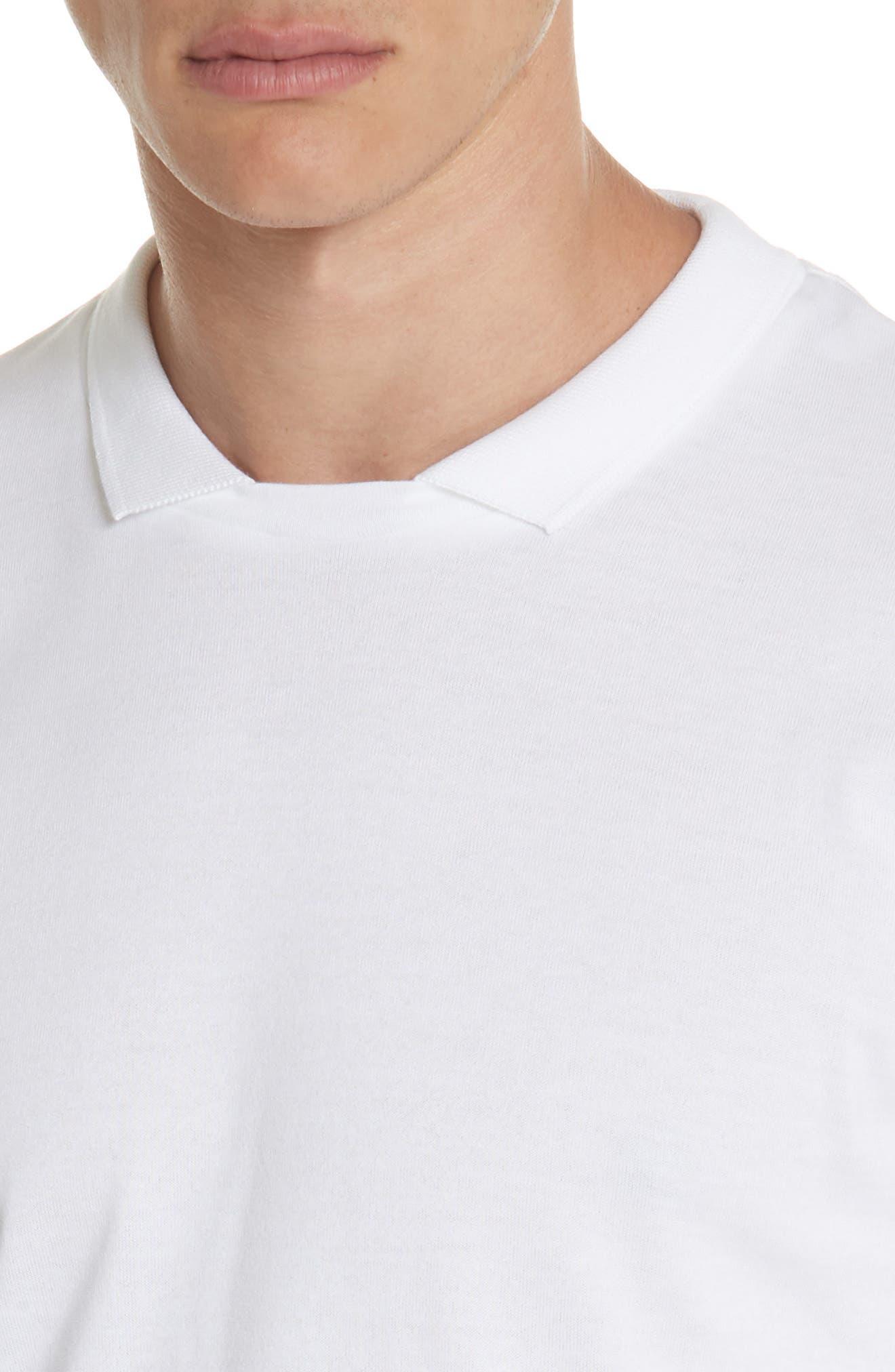 Long Sleeve Polo Shirt,                             Alternate thumbnail 4, color,                             Ivory