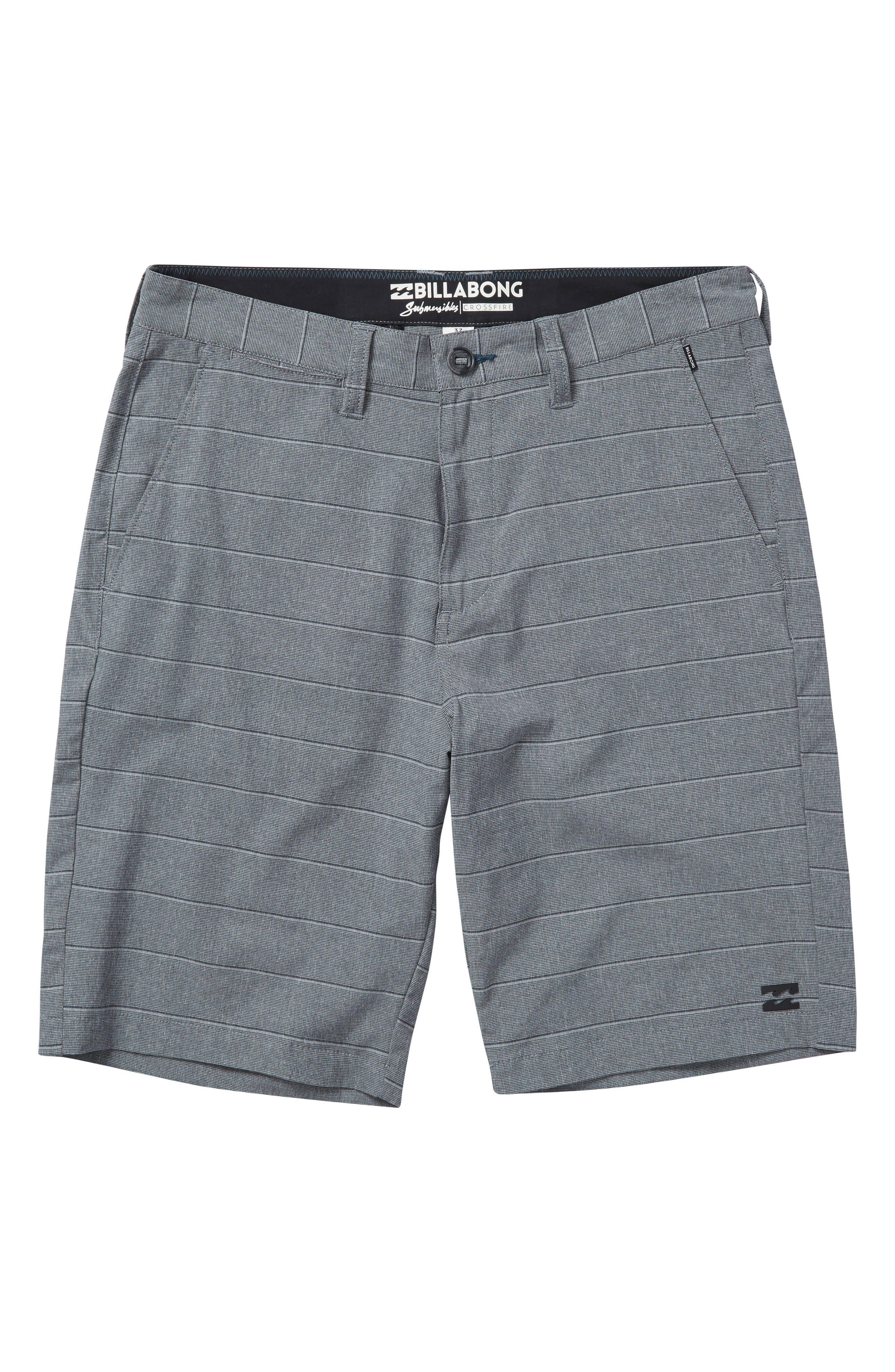 Crossfire X Stripe Hybrid Shorts,                             Main thumbnail 1, color,                             Dark Grey