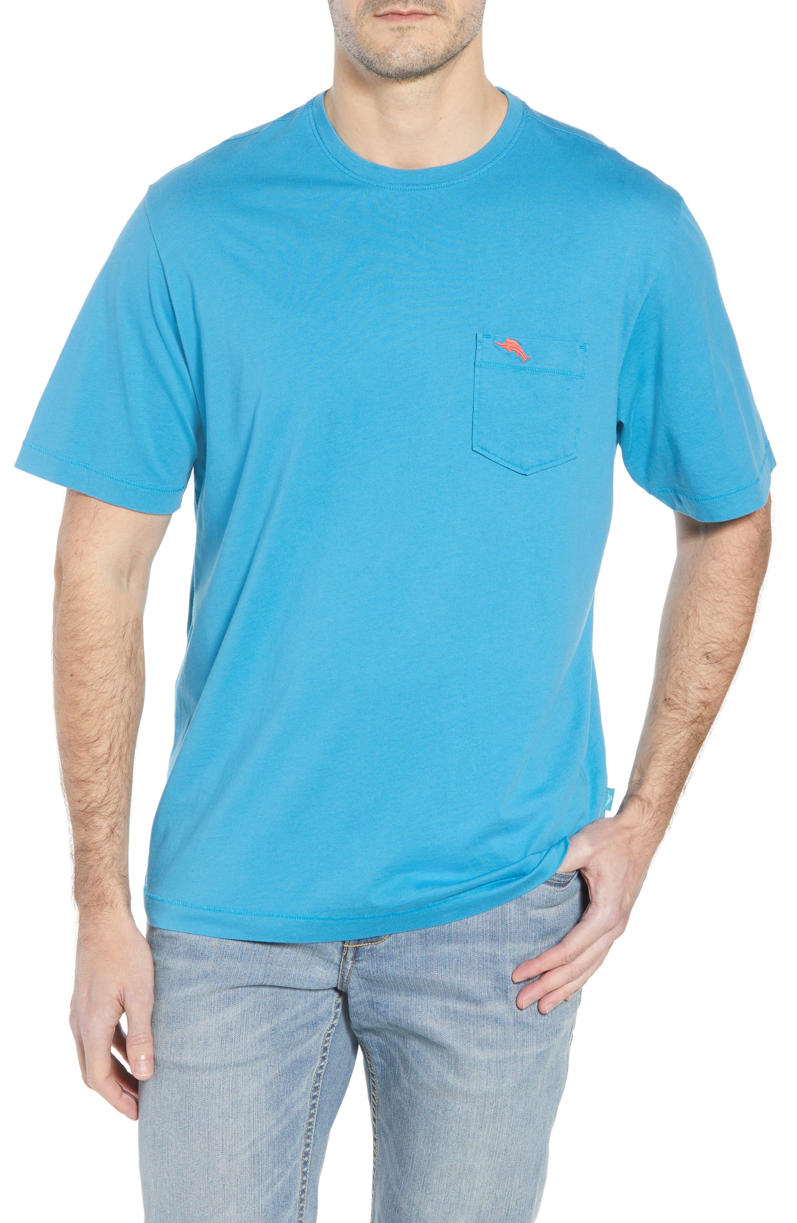 New Bali Sky Pima Cotton Pocket T-Shirt,                         Main,                         color, Voyager Blue
