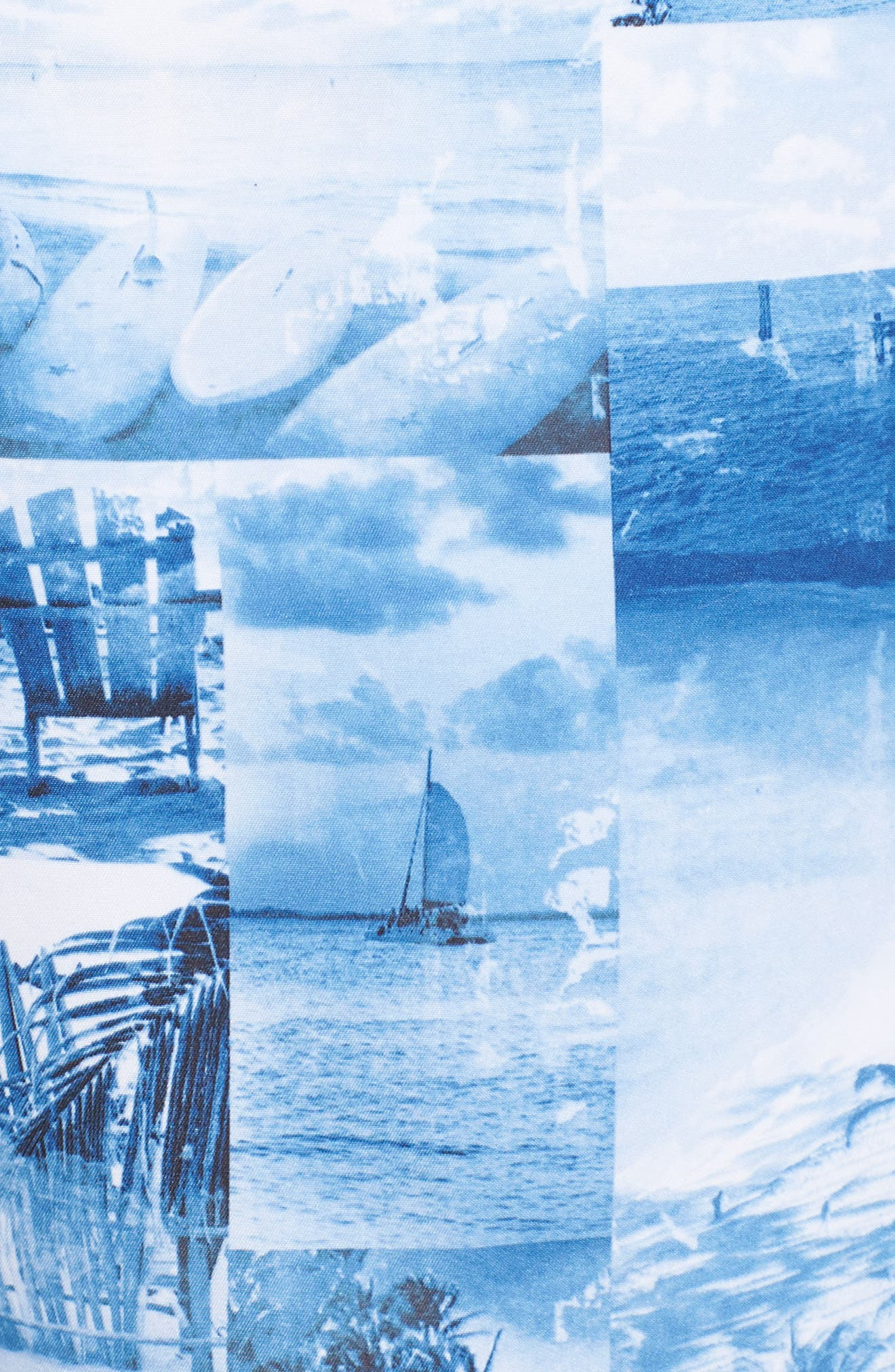 Baja Coast Busters Swim Trunks,                             Alternate thumbnail 5, color,                             Dockside Blue