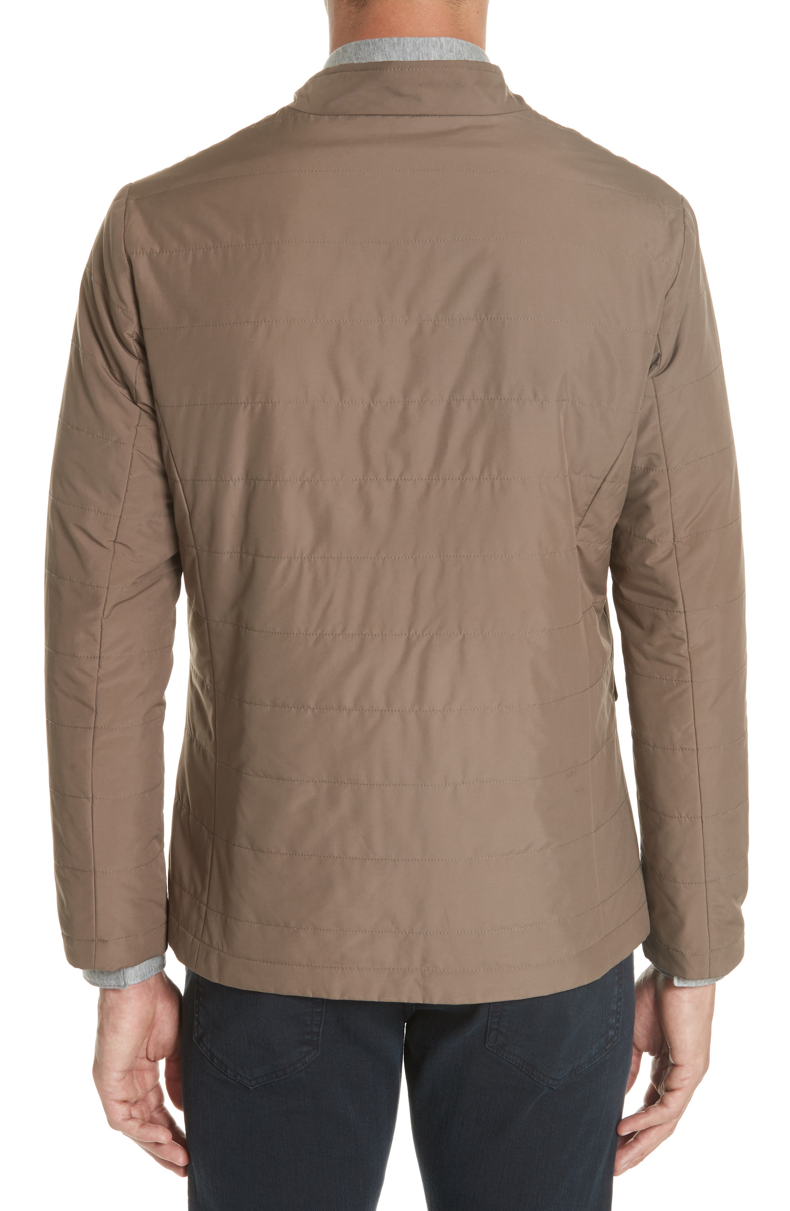 Quilted Jacket,                             Alternate thumbnail 2, color,                             Taupe