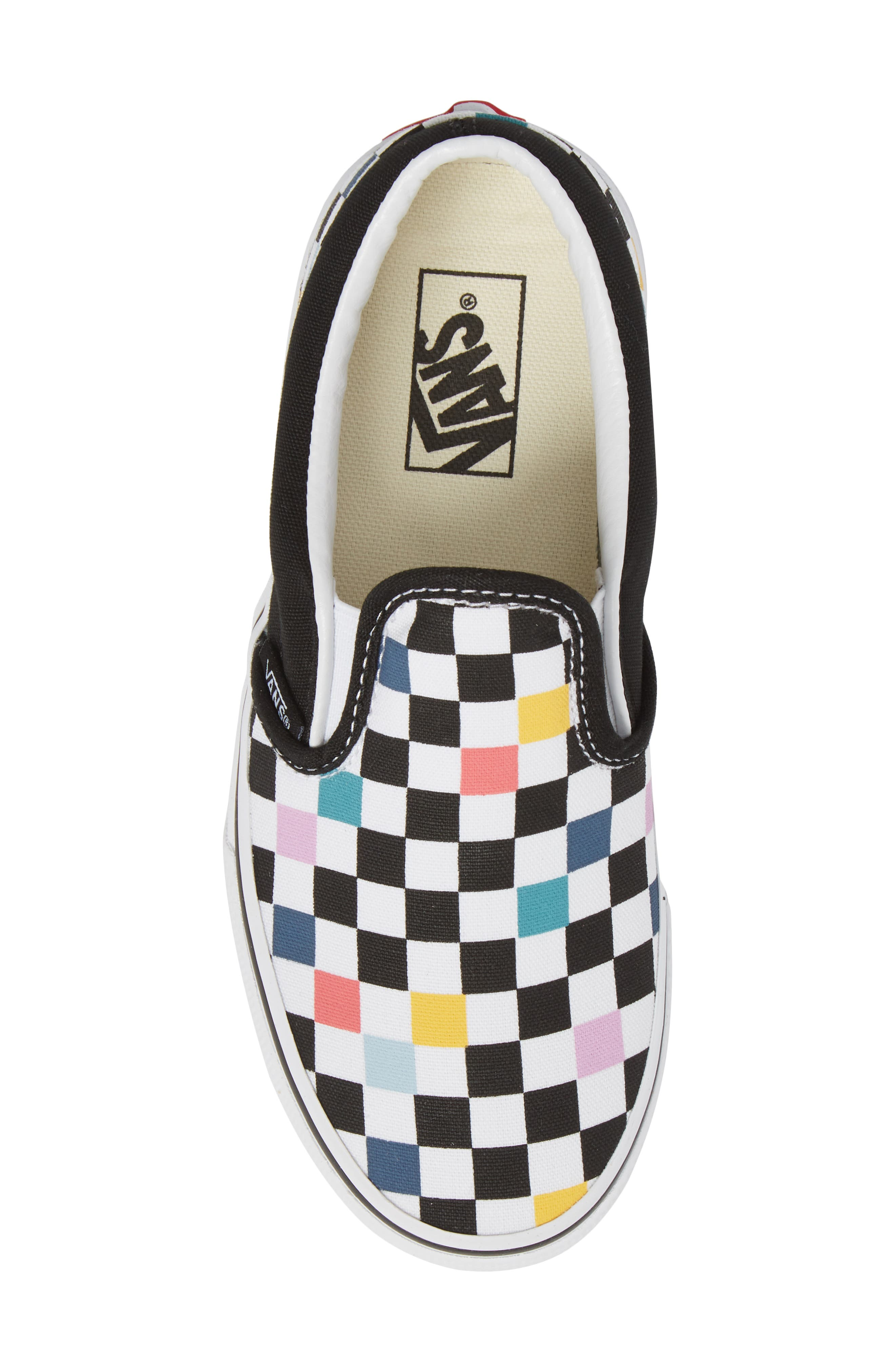 Party Check Slip-On Sneaker,                             Alternate thumbnail 5, color,                             Party Checker Multi/ Black