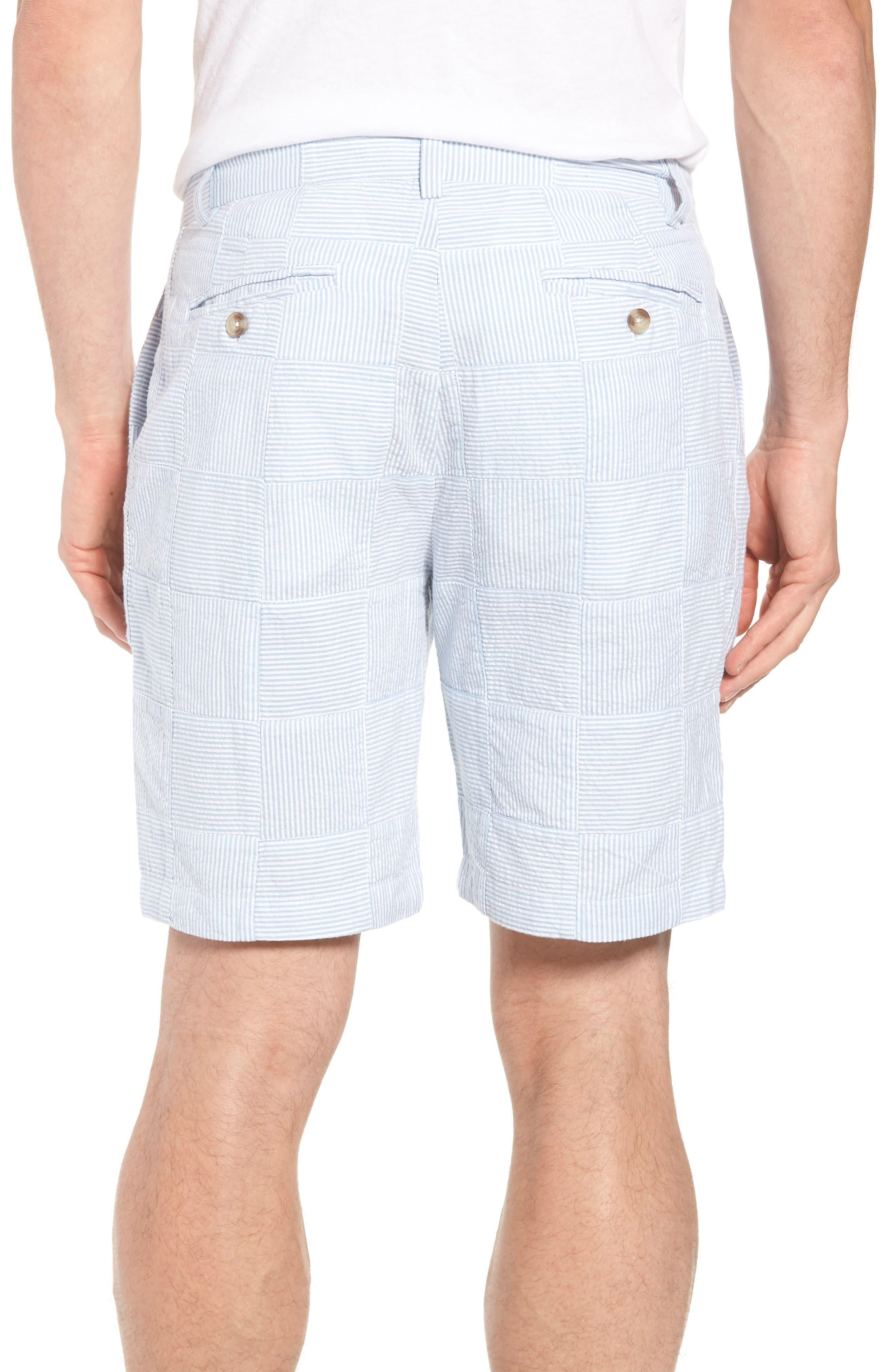 Patchwork Seersucker Breaker Shorts,                             Alternate thumbnail 2, color,                             Ocean Breeze