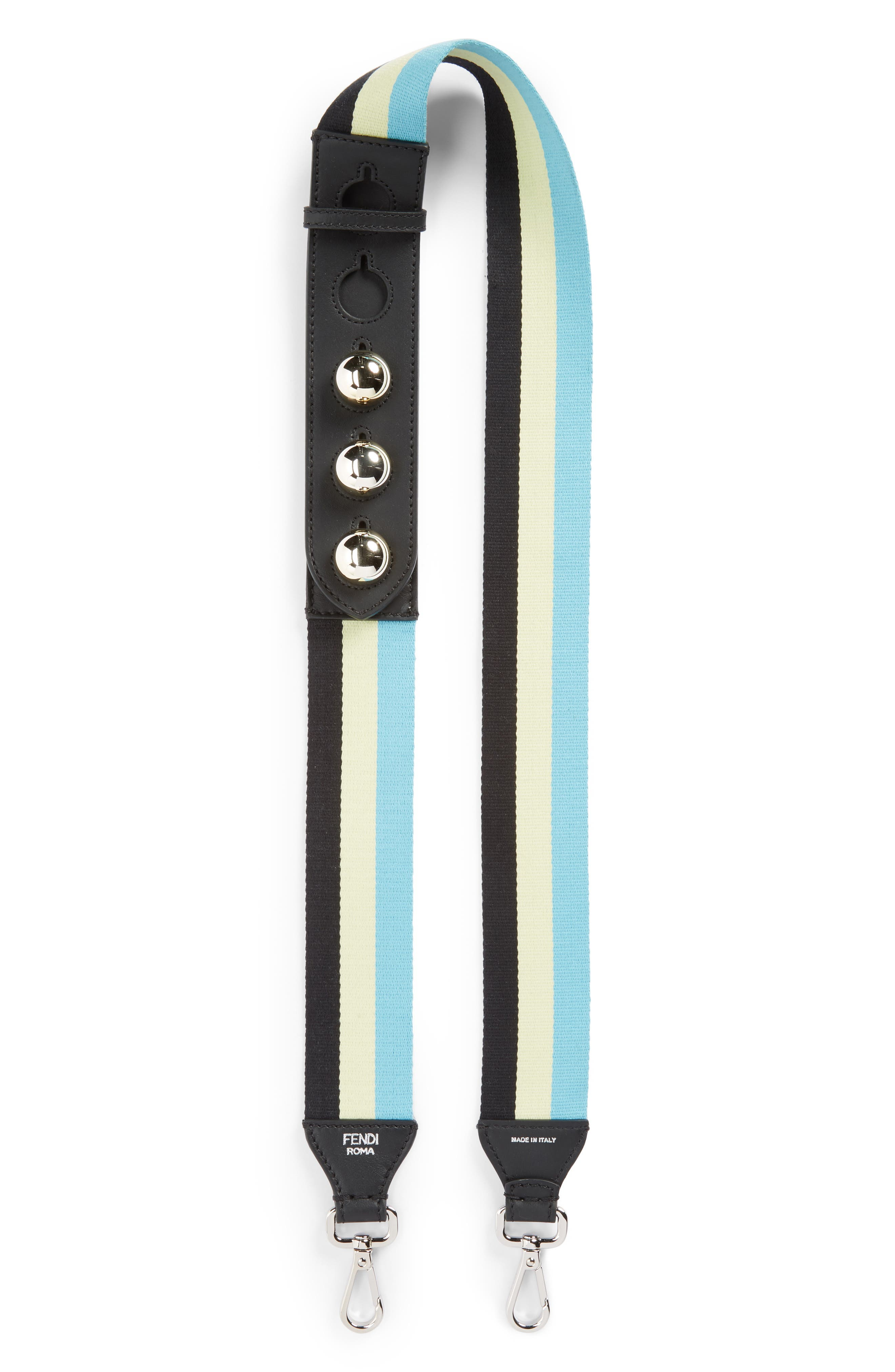 Fendi Stripe Adjustable Webbing Strap
