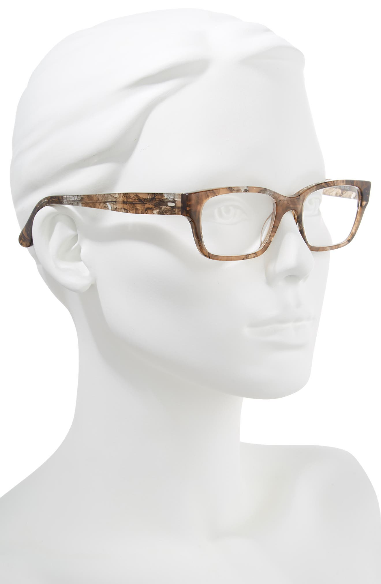 'Sydney' 51mm Reading Glasses,                             Alternate thumbnail 2, color,                             Transparent Marble