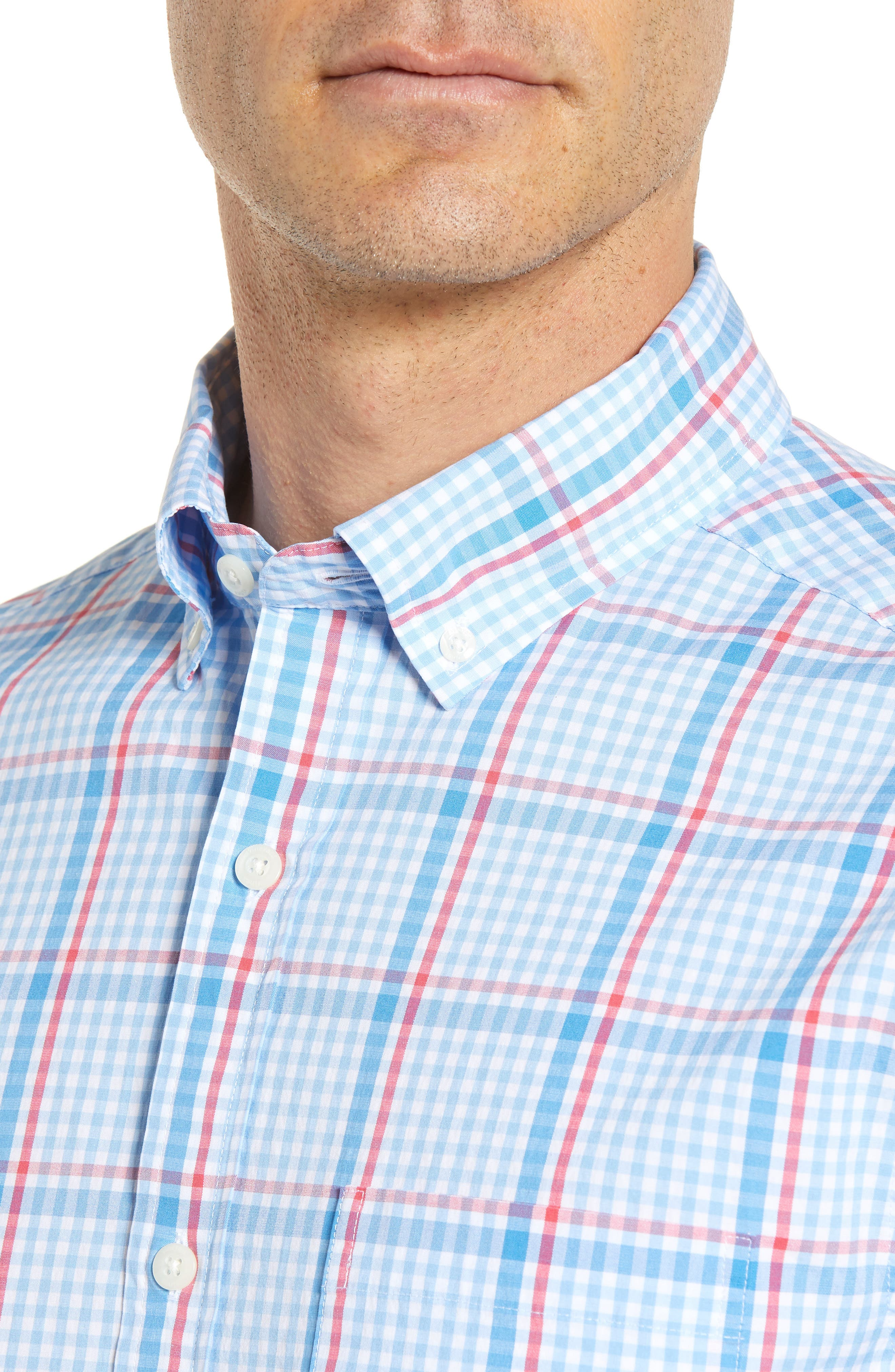 Palmer Island Classic Fit Plaid Sport Shirt,                             Alternate thumbnail 2, color,                             Ocean Breeze