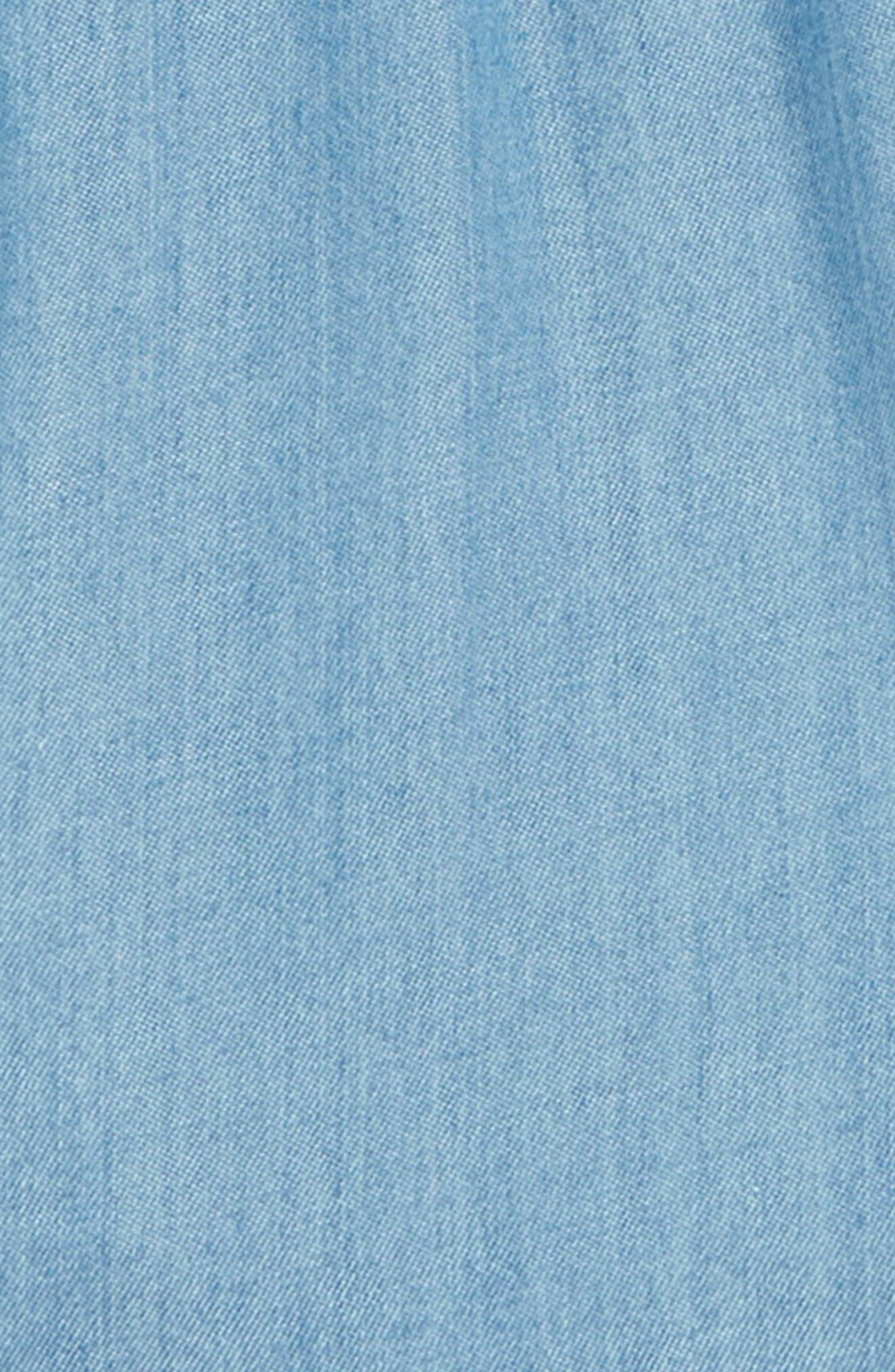 Ruffle Chambray Shorts,                             Alternate thumbnail 2, color,                             River Blue Wash