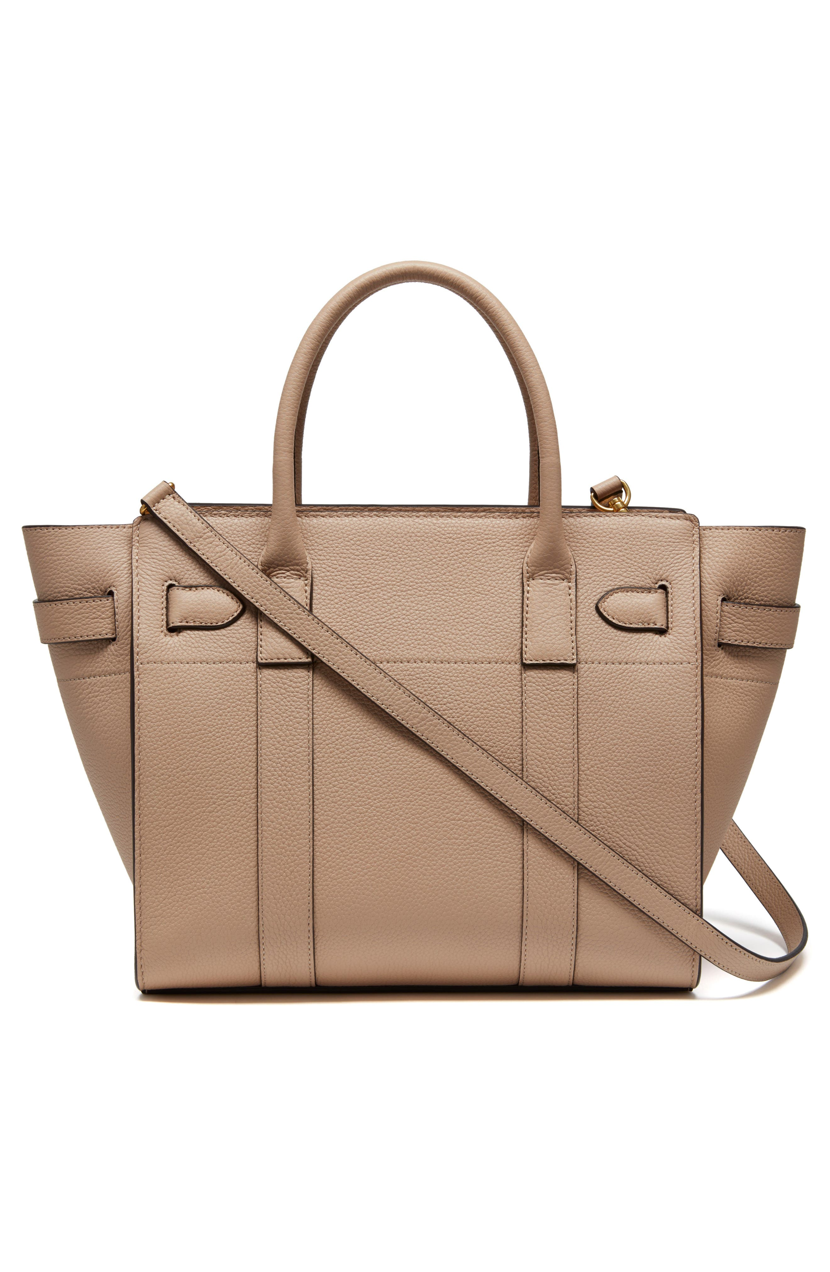 Small Zip Bayswater Classic Leather Tote,                             Alternate thumbnail 2, color,                             Rosewater
