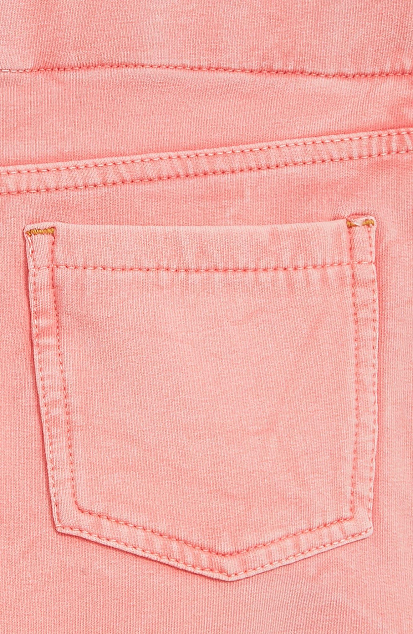 'Jenna' Jegging Shorts,                             Alternate thumbnail 3, color,                             Coral Shell Wash