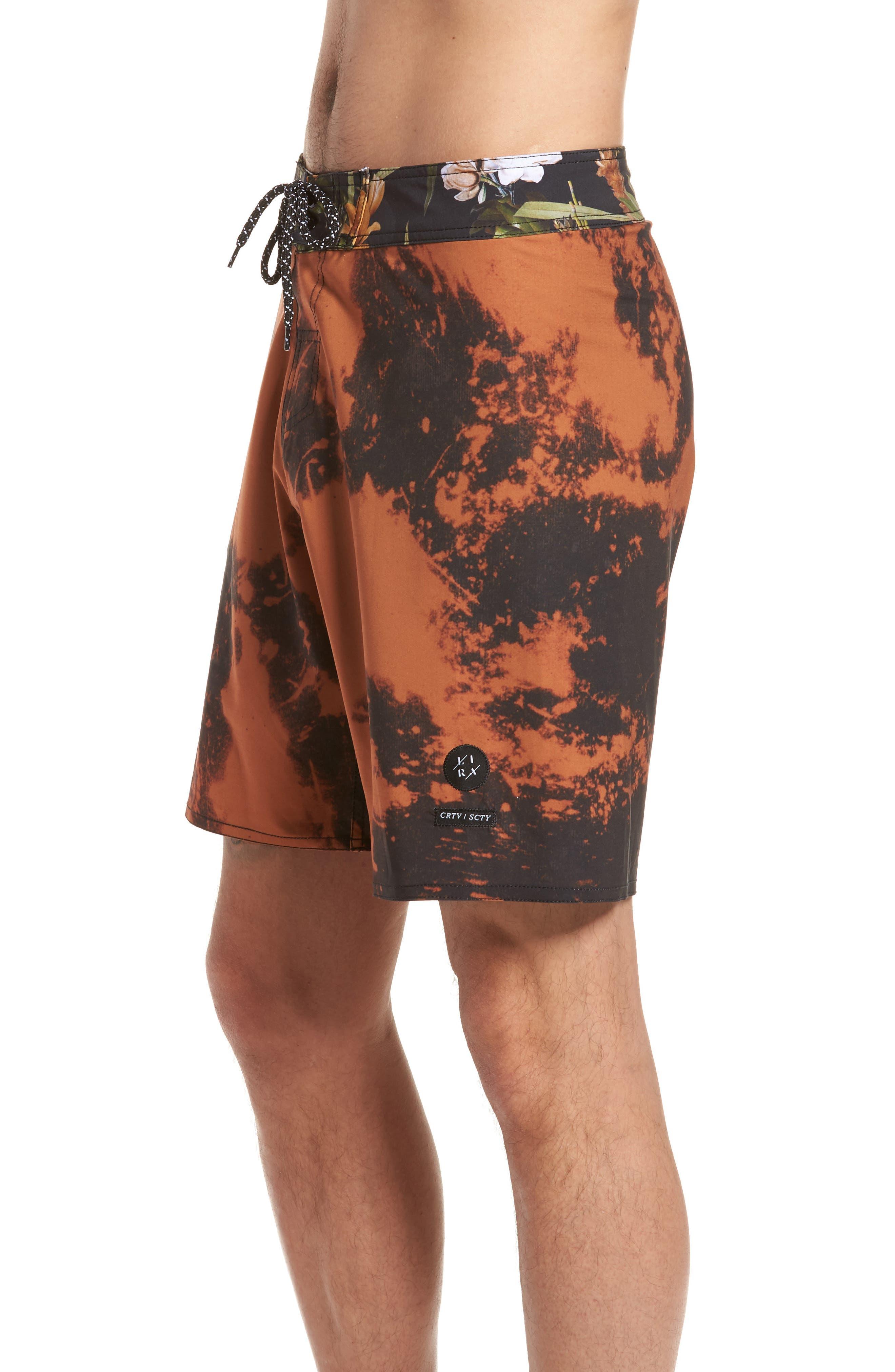 Tandem Swim Shorts,                             Alternate thumbnail 3, color,                             Black