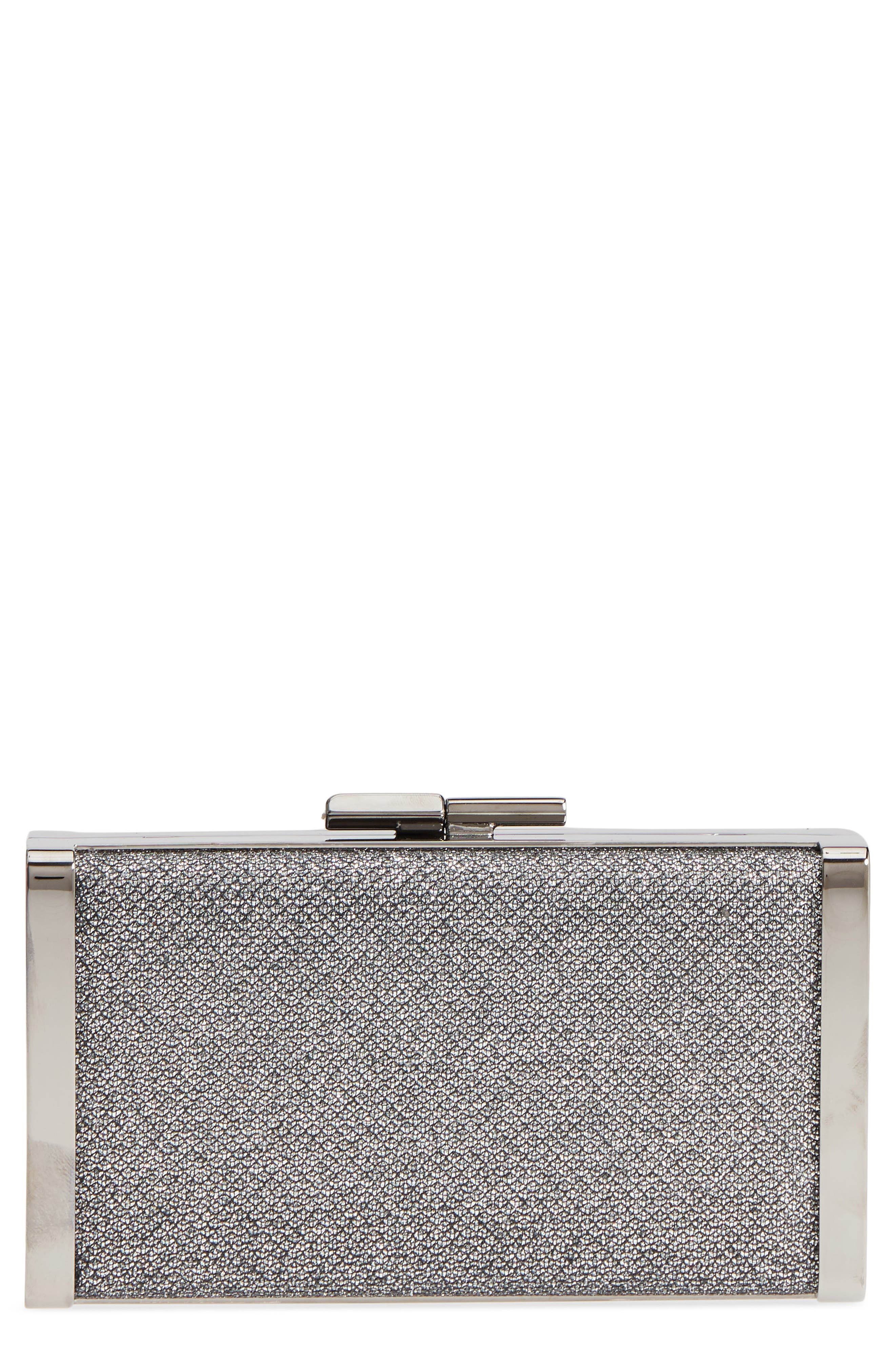 Jimmy Choo J Glitter Box Clutch