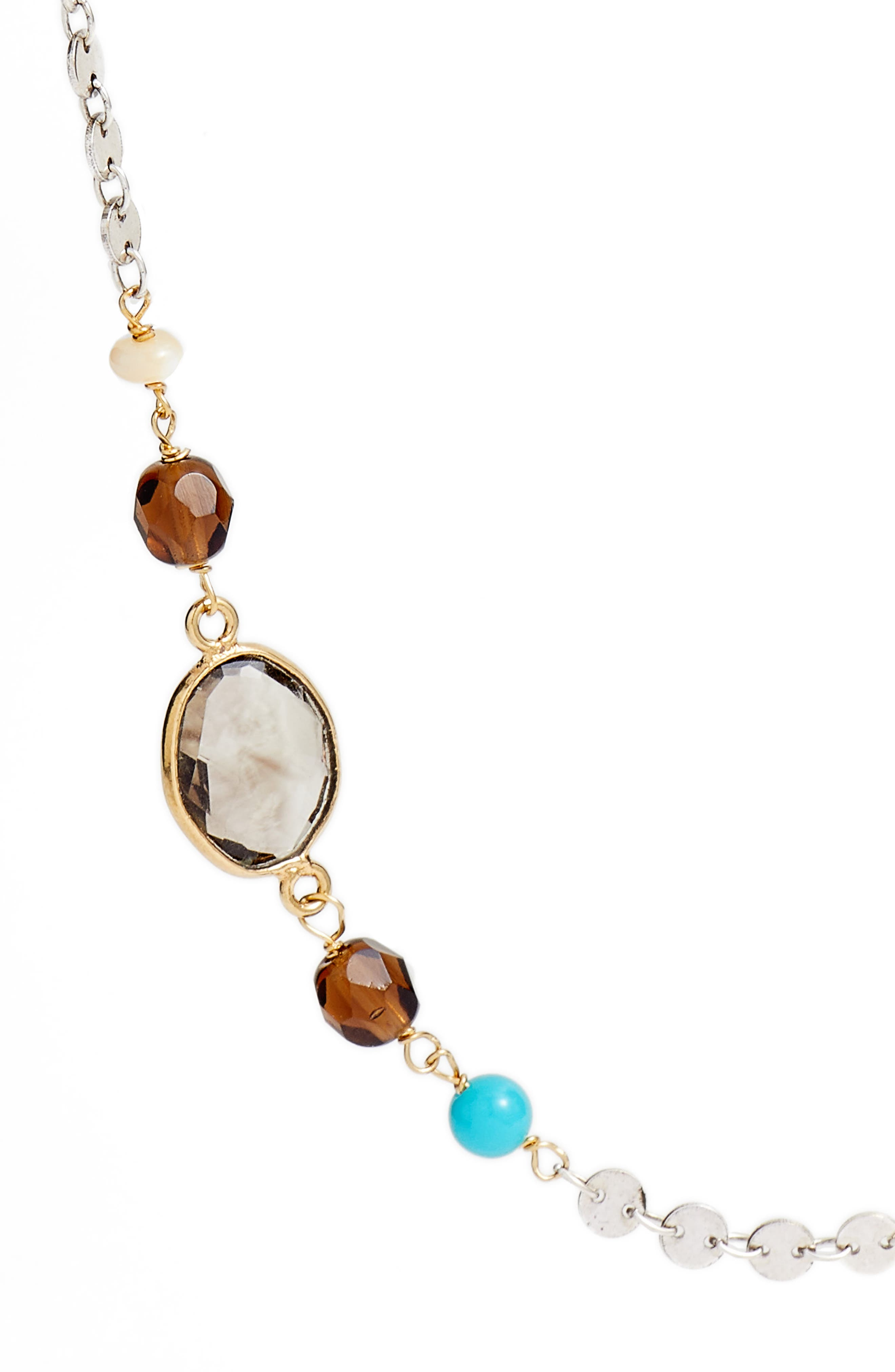Victorien Mixed Station Chain Necklace,                             Alternate thumbnail 2, color,                             Gold