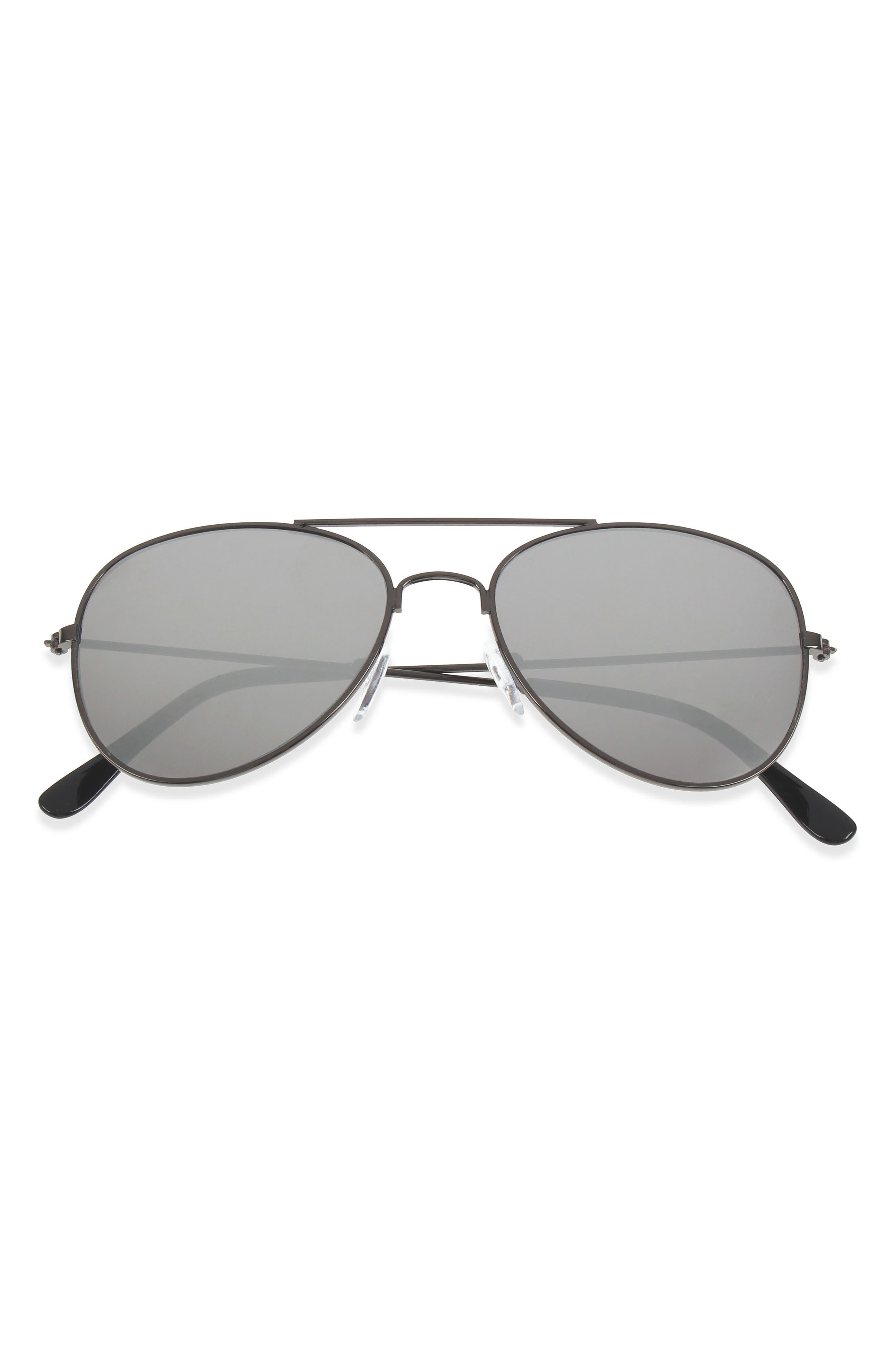 Capelli New York 50mm Mirrored Aviator Sunglasses (Little Boys)