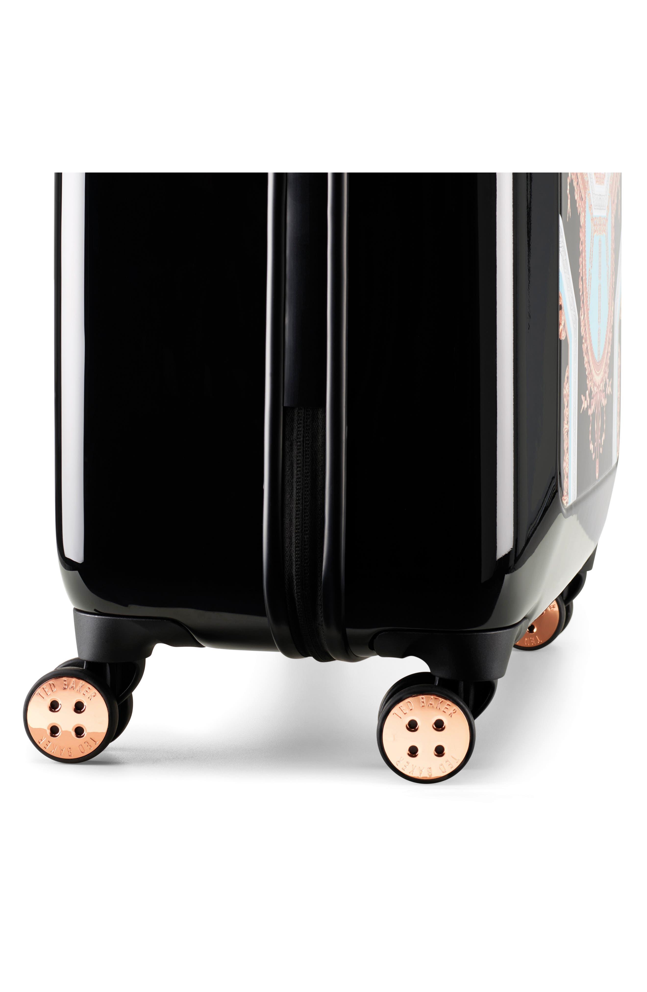 Medium Versailles 27-Inch Hard Shell Spinner Suitcase,                             Alternate thumbnail 7, color,                             Black