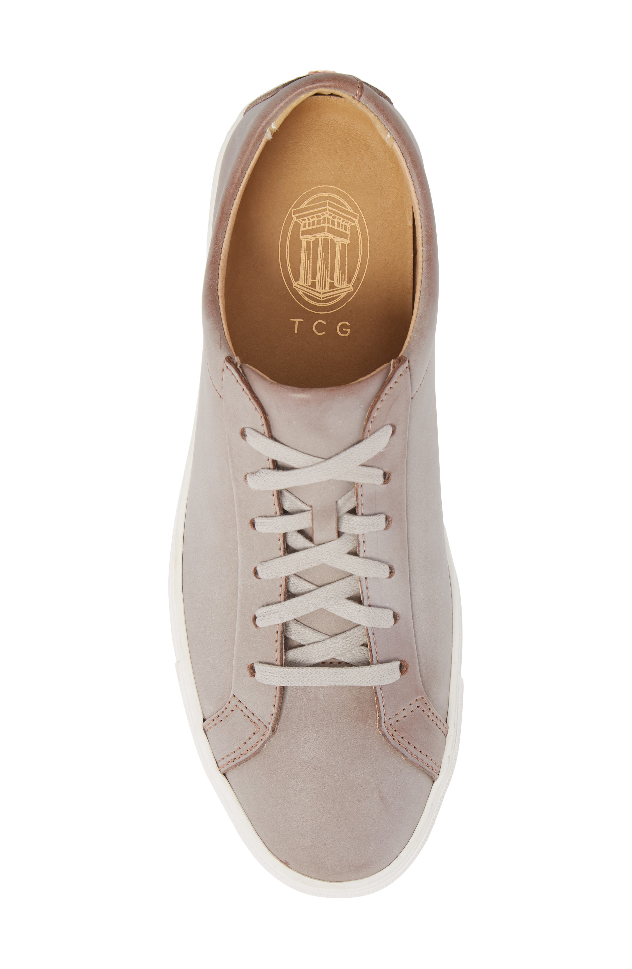 Kennedy Lugged Sneaker,                             Alternate thumbnail 5, color,                             Sand Stone Leather