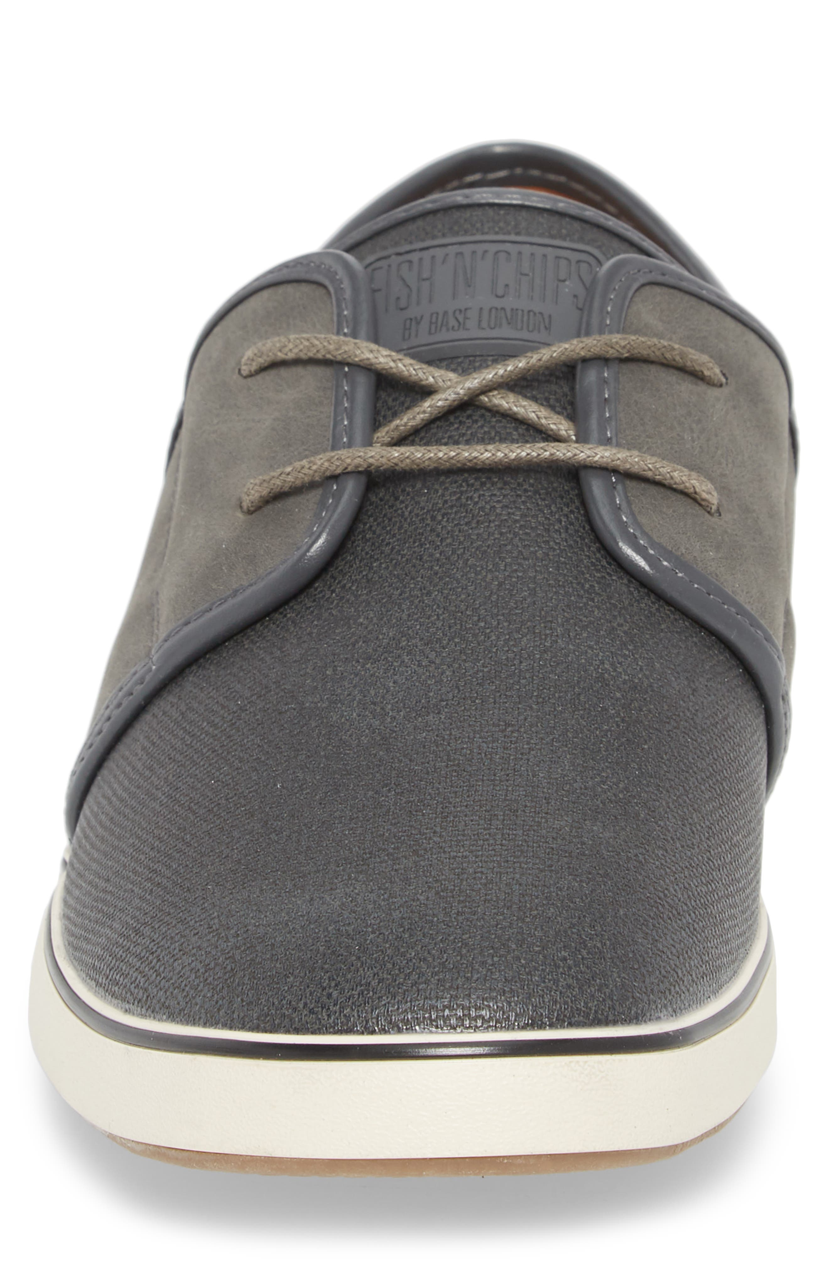 Fish 'N' Chips Madrid Sneaker,                             Alternate thumbnail 5, color,                             Charcoal