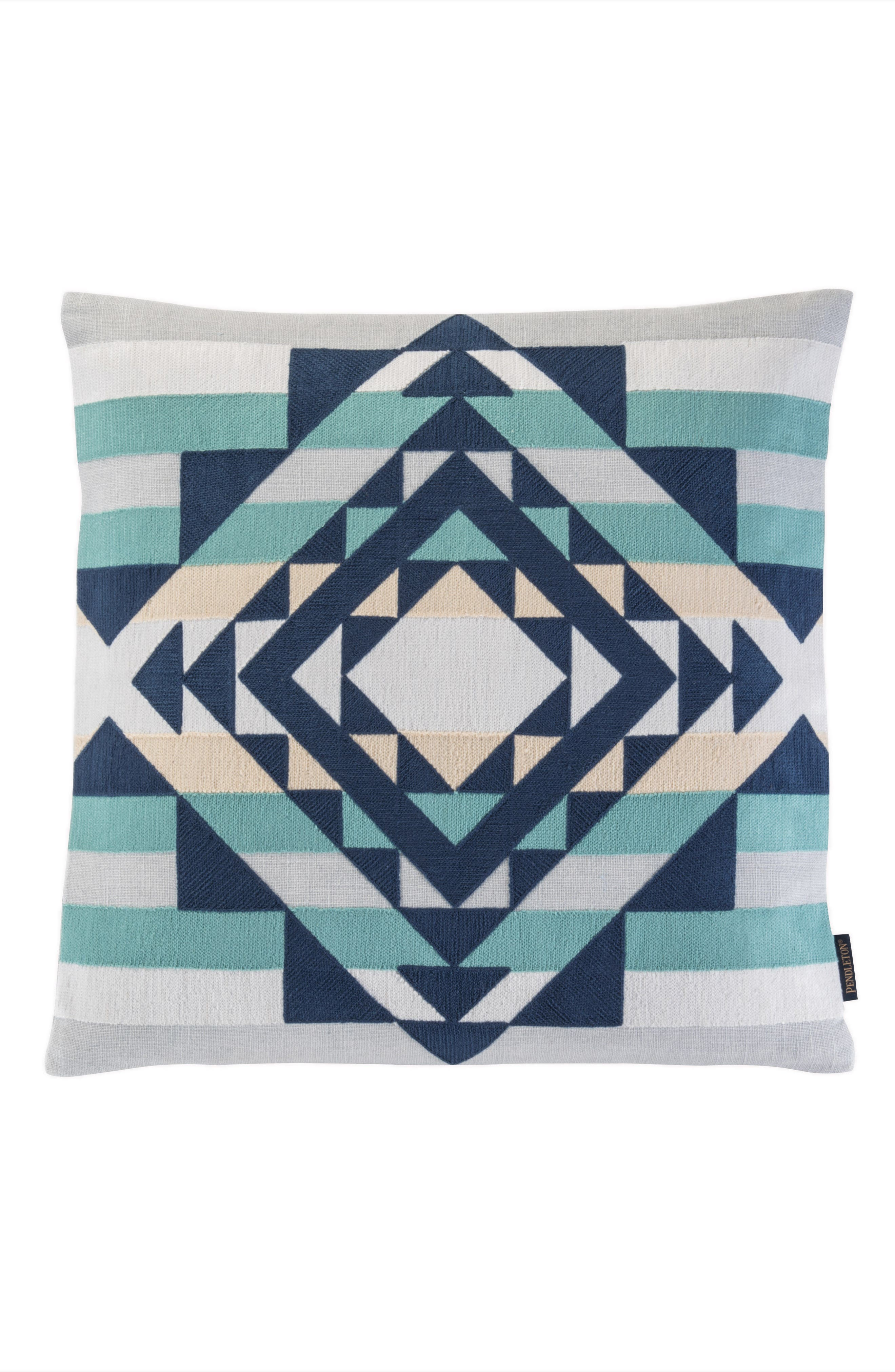 Point Reyes Crewel Embroidered Accent Pillow,                         Main,                         color, Grey Multi