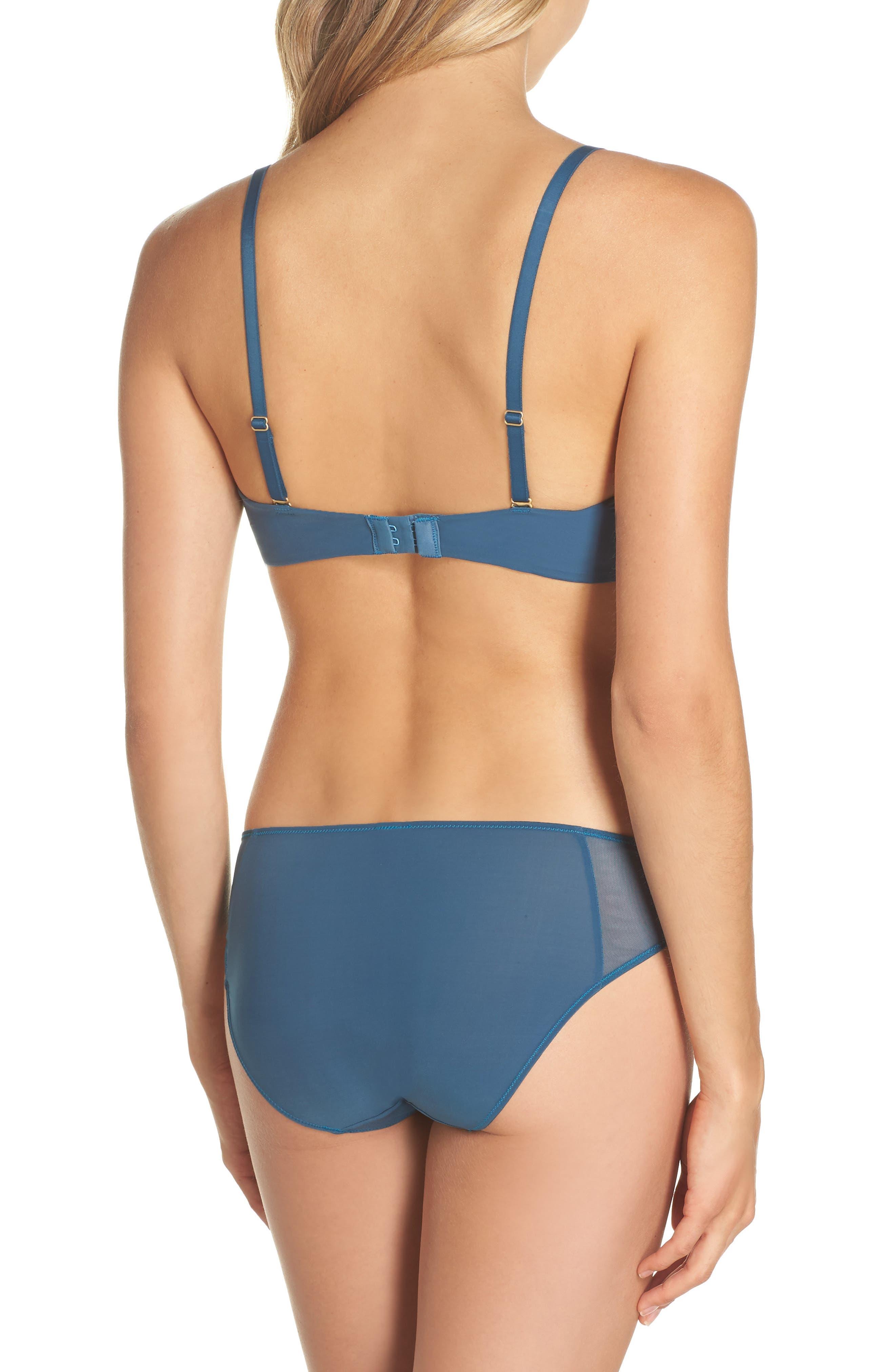 Mesh Trim Bikini,                             Alternate thumbnail 4, color,                             Blue Hematite