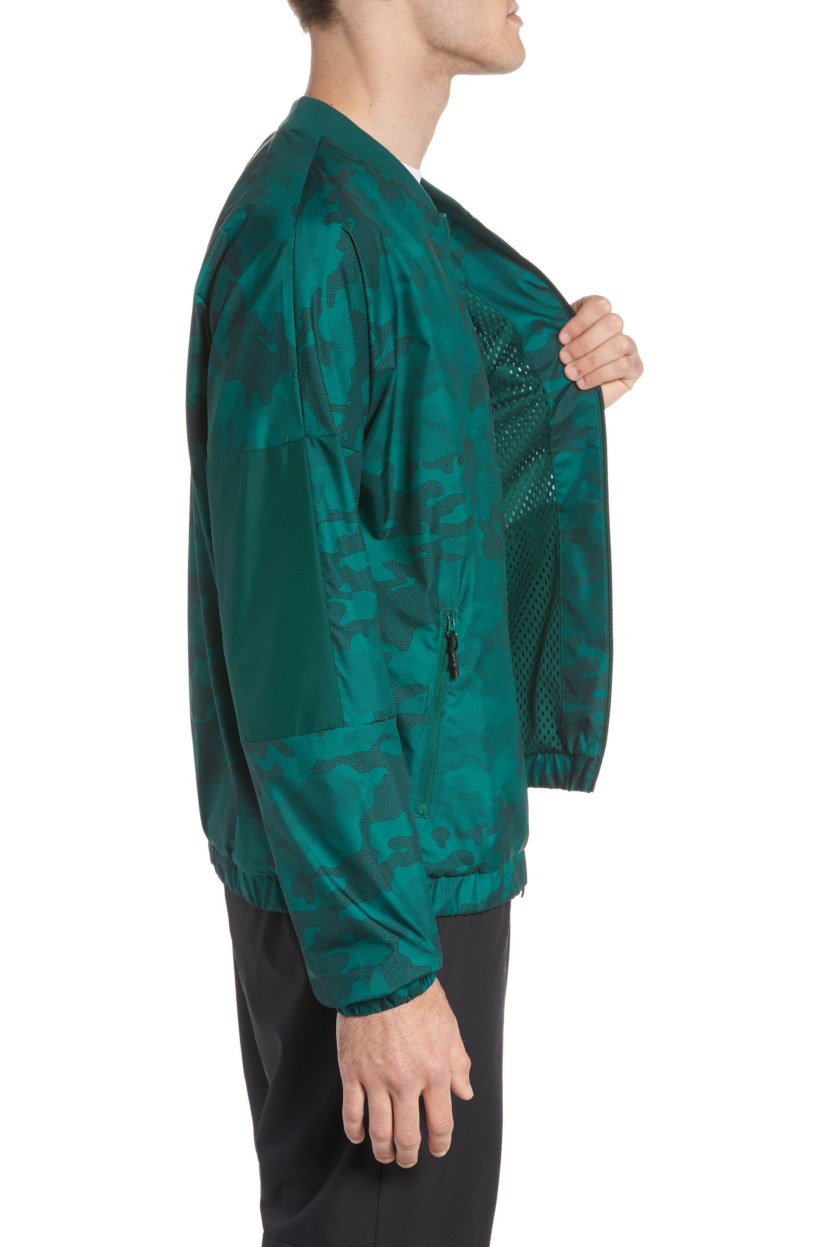 Regular Fit Track Jacket,                             Alternate thumbnail 3, color,                             Collegiate Green/ Black