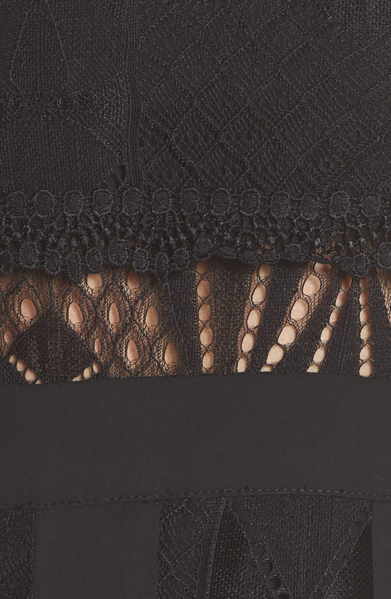 Juliet One-Shoulder Lace Gown,                             Alternate thumbnail 5, color,                             Black/ Black