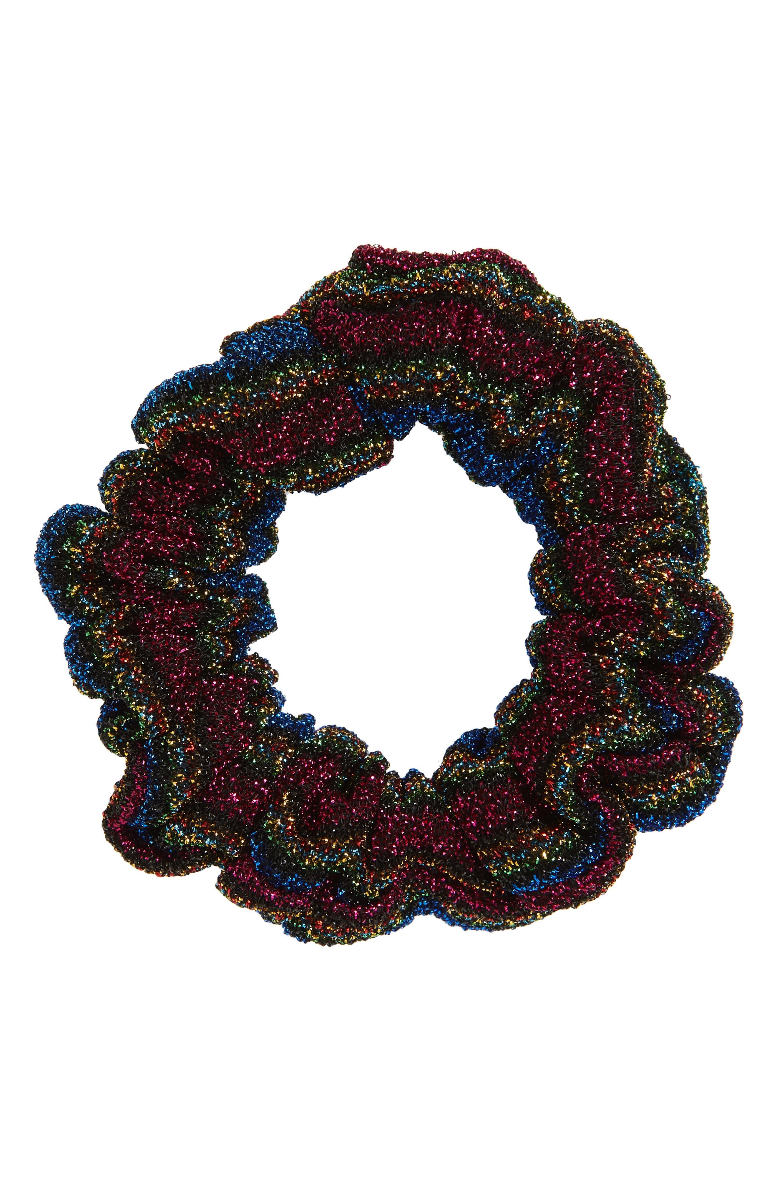 Sparkle Scrunchie,                         Main,                         color, Blue Multi