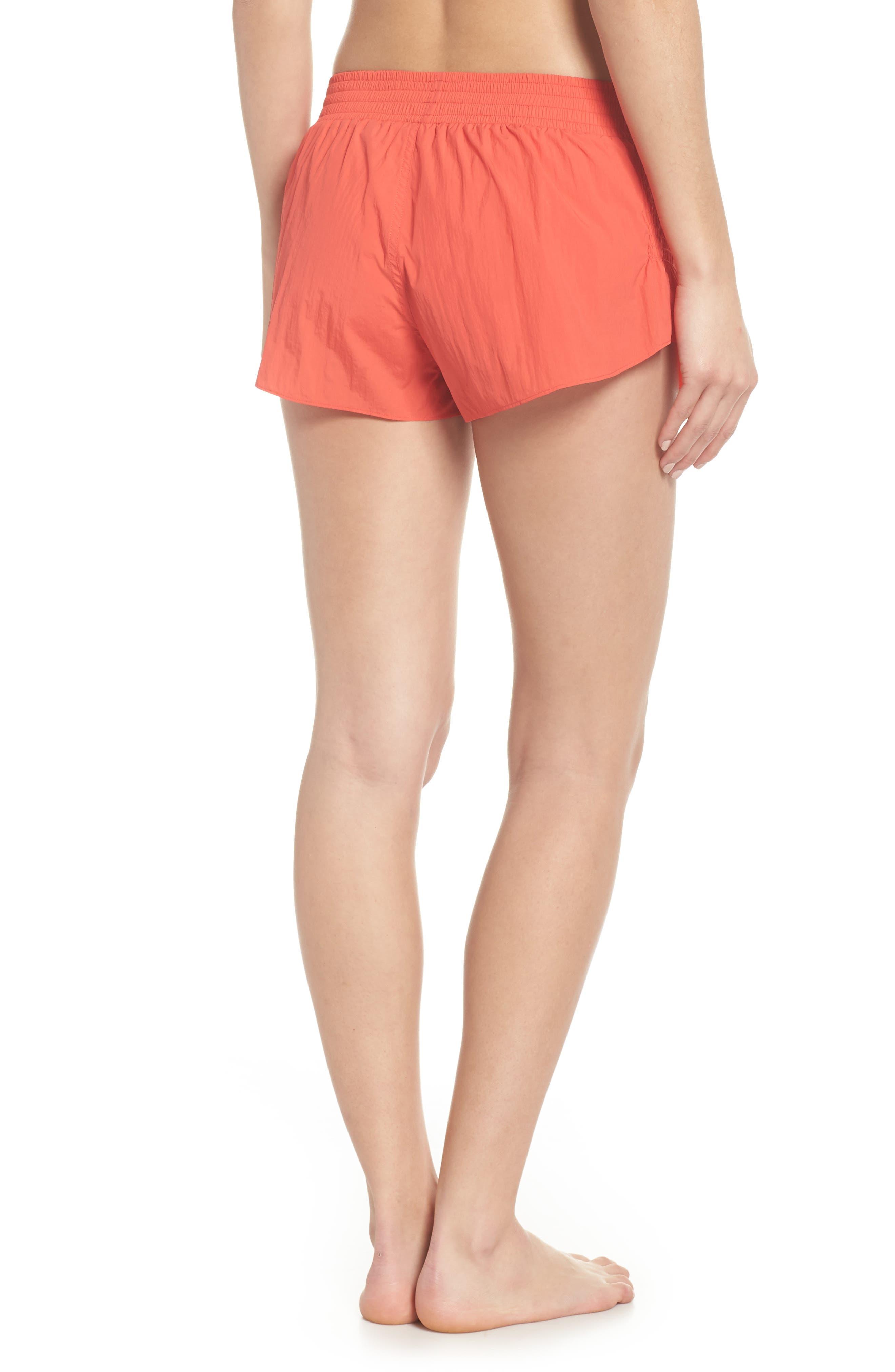 Fuji Shorts,                             Alternate thumbnail 2, color,                             Coral