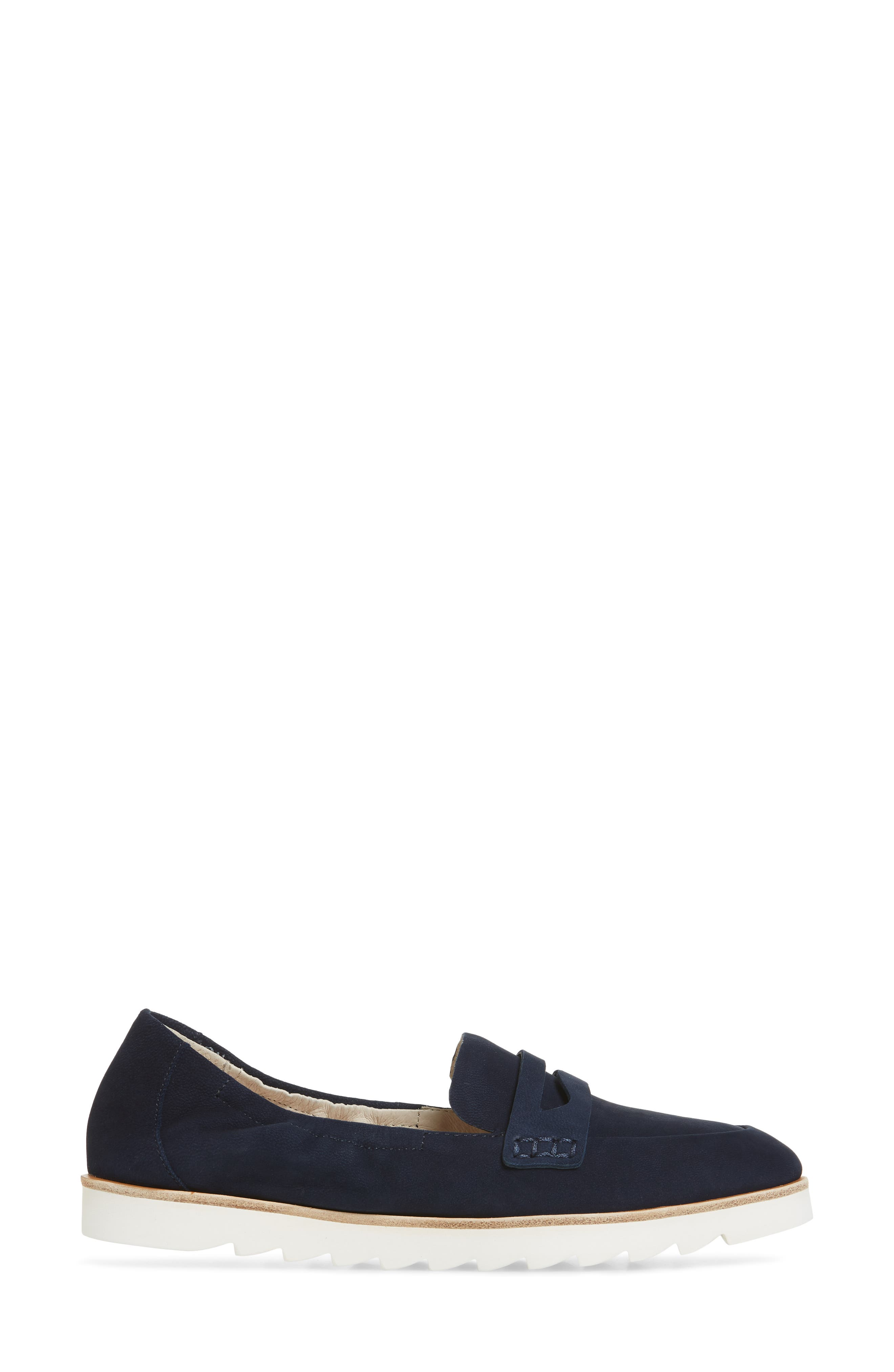 Rylee Penny Loafer,                             Alternate thumbnail 3, color,                             Navy Nubuck